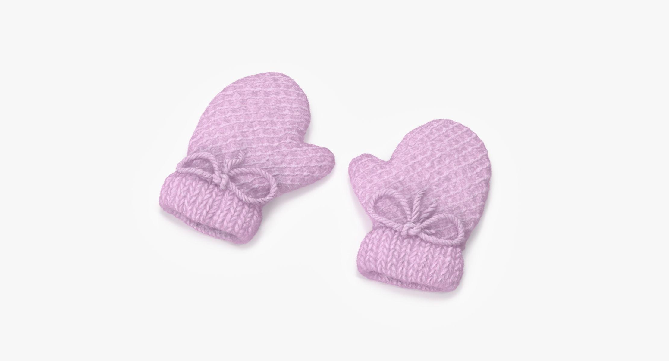 Newborn Mittens 01 Pink - reel 1