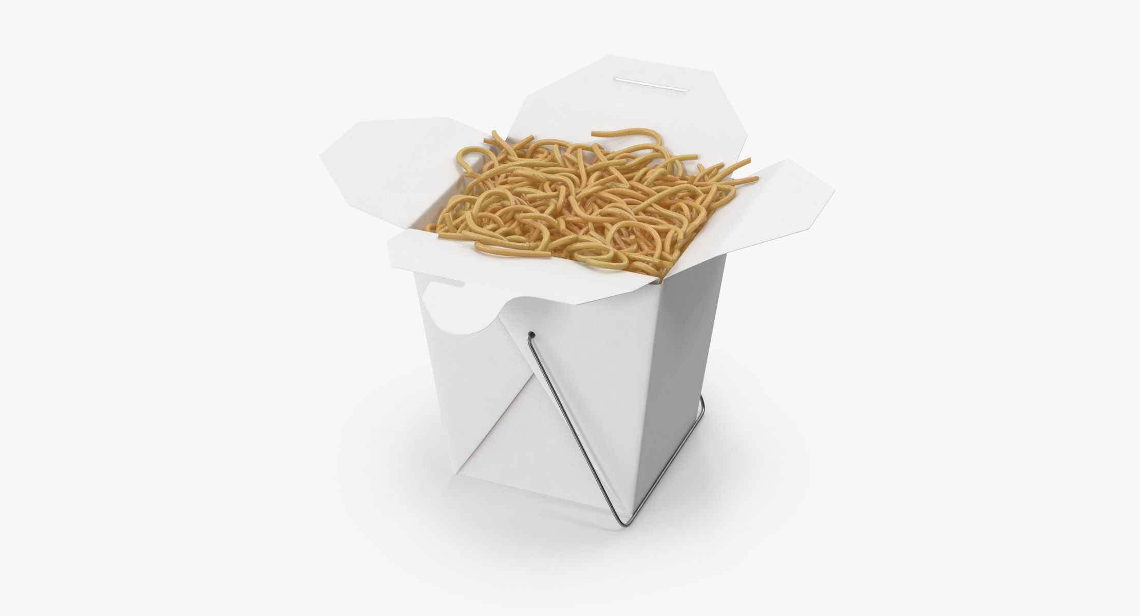 Chinese Takeout Box Open With Noodles - reel 1