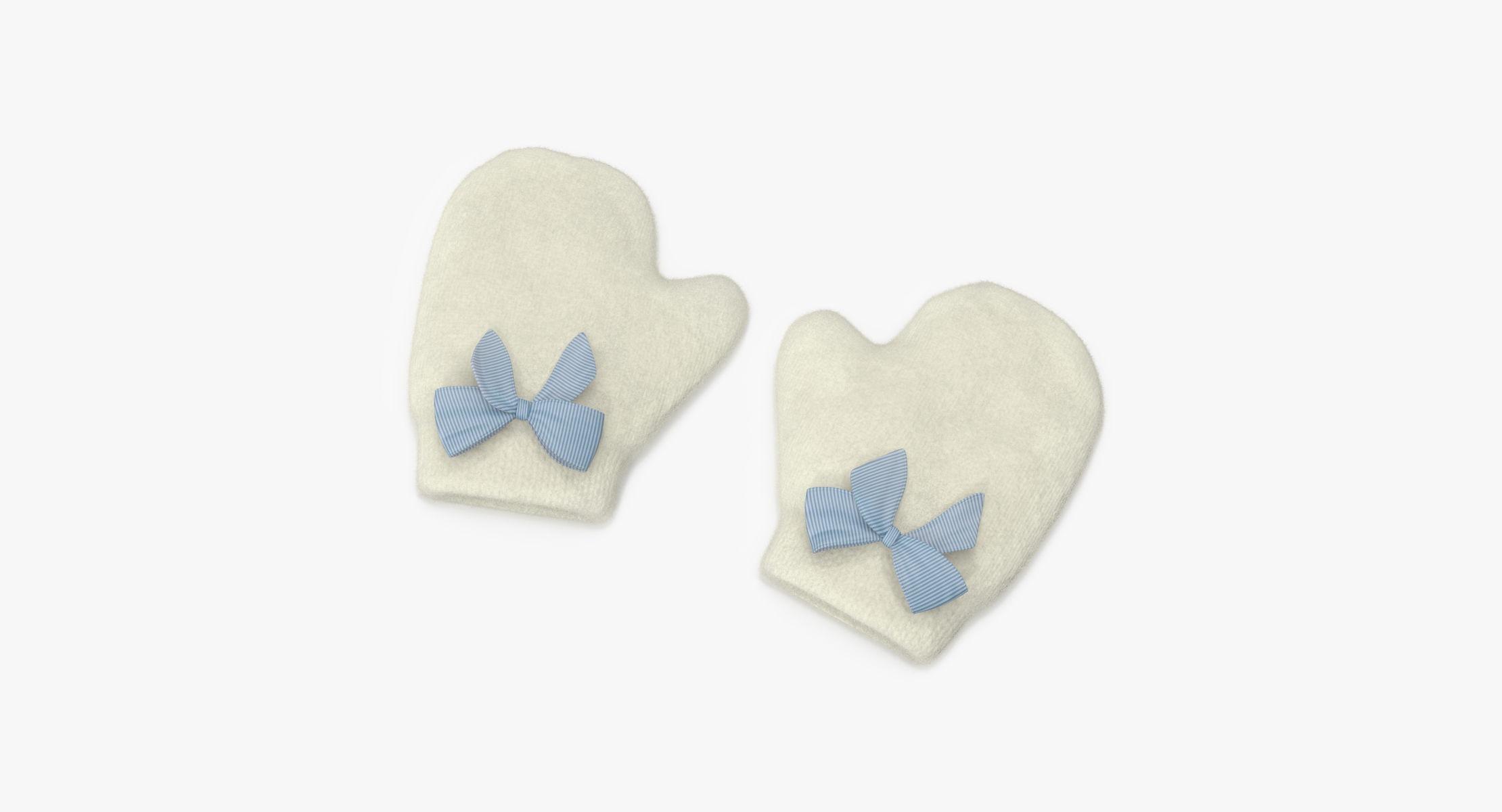 Newborn Mittens 03 Blue - reel 1