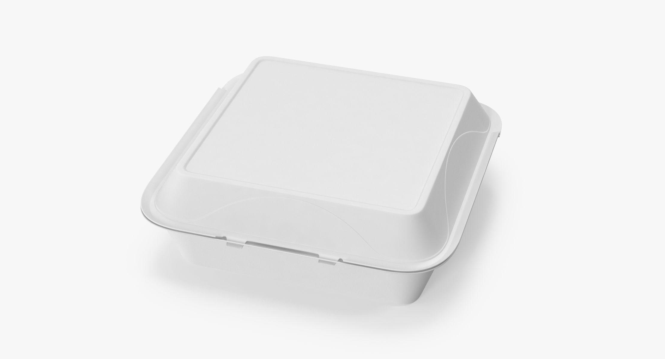 Styrofoam To Go Box Closed - reel 1