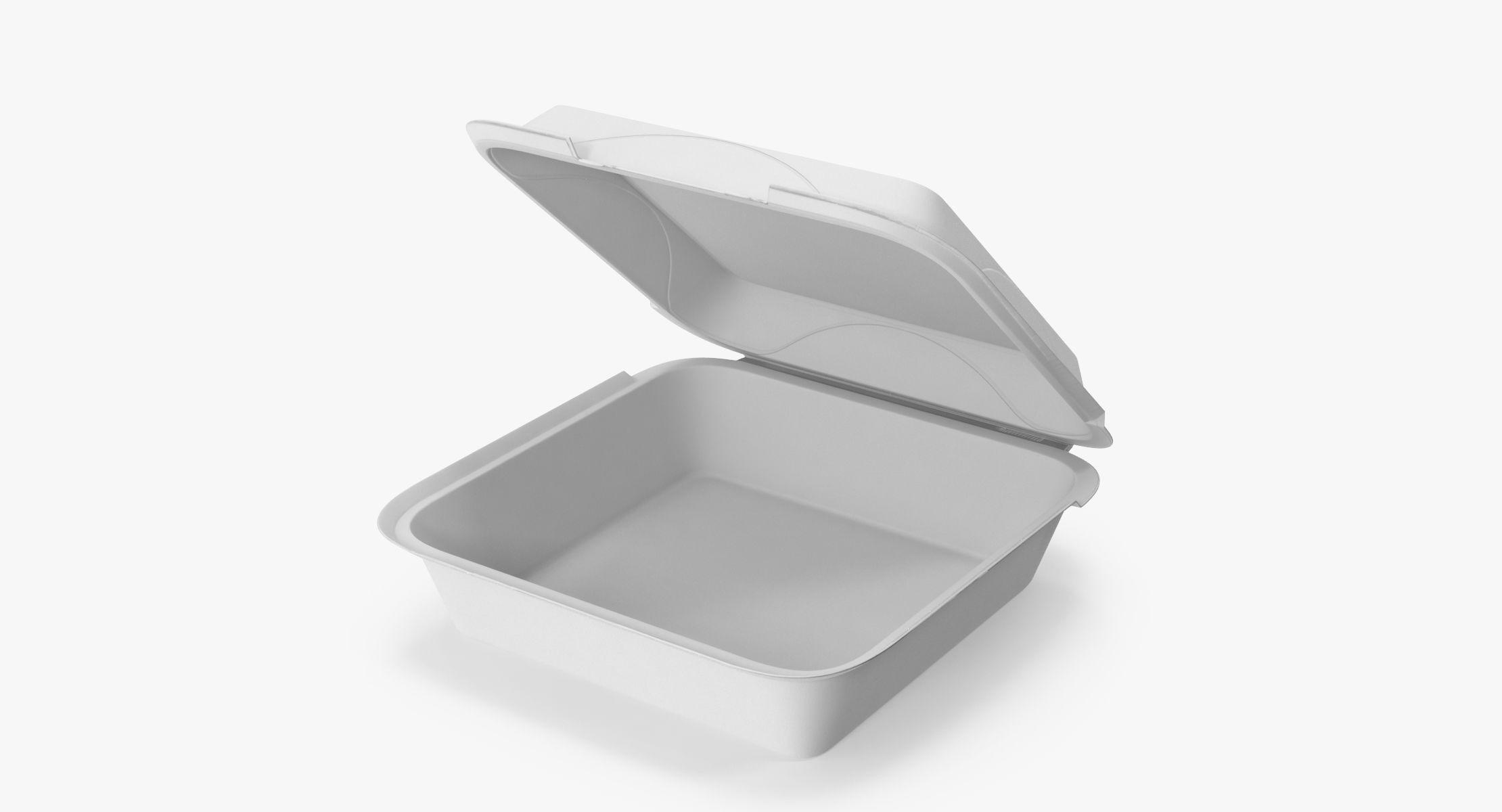 Styrofoam To Go Box Open - reel 1