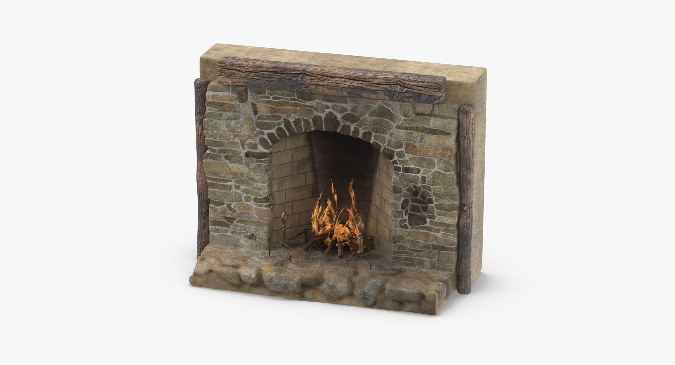 Medieval Fireplace - reel 1