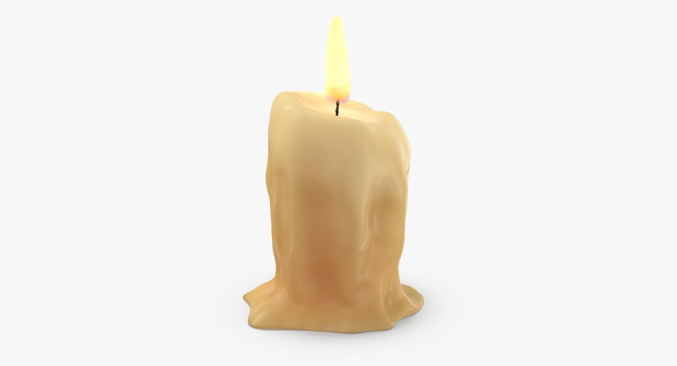 Medieval Style Table Candle 03 - reel 1