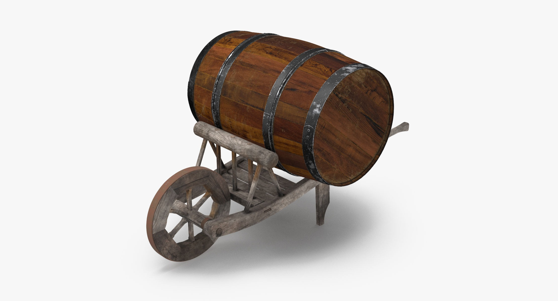Medieval Wheelbarrow and Barrel - reel 1