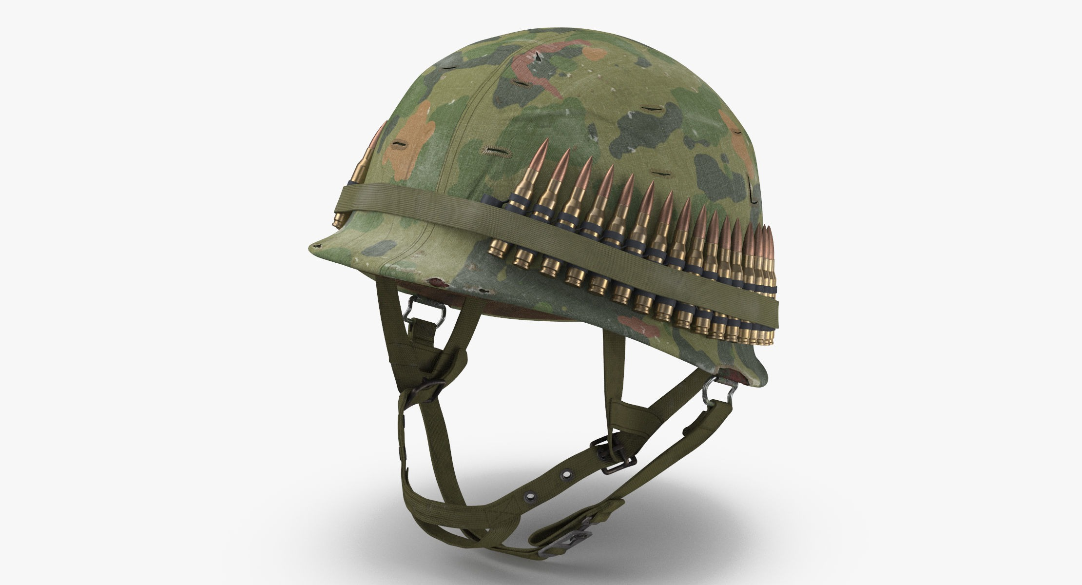 M1 Combat Helmet - With Cover - Worn - reel 1