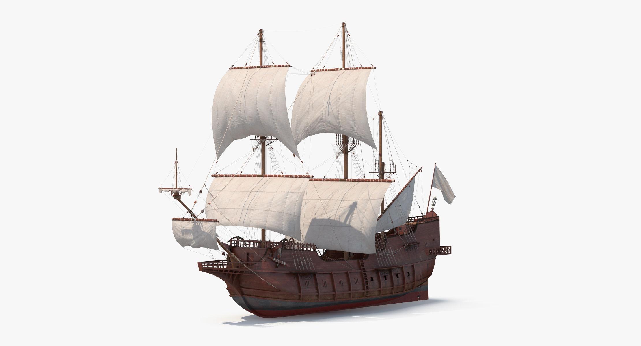 Spanish Galleon Ship 3D model - reel 1