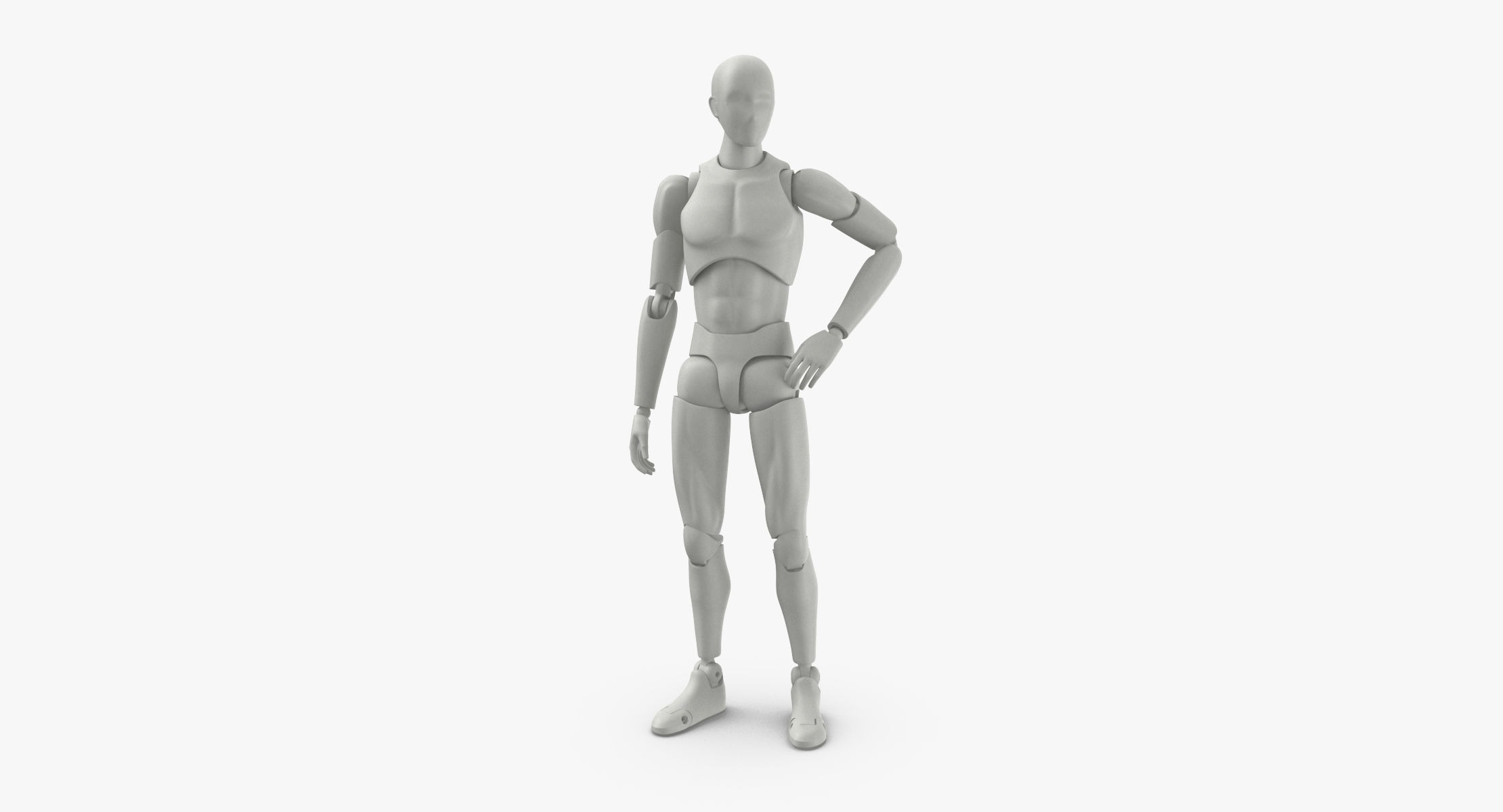 3D Male Mannequin Rigged model - reel 1