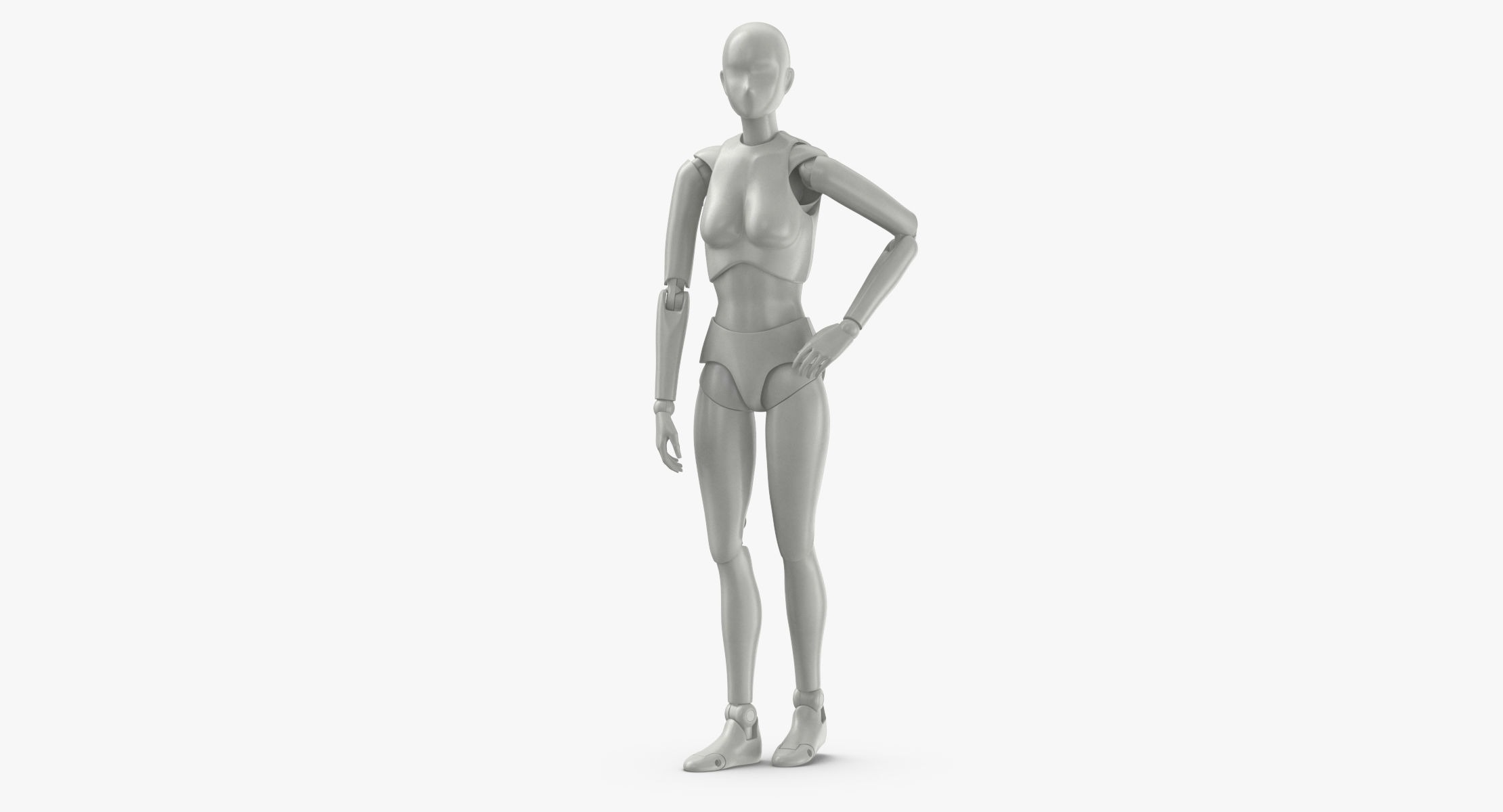 Female Mannequin Rigged 3D model - reel 1