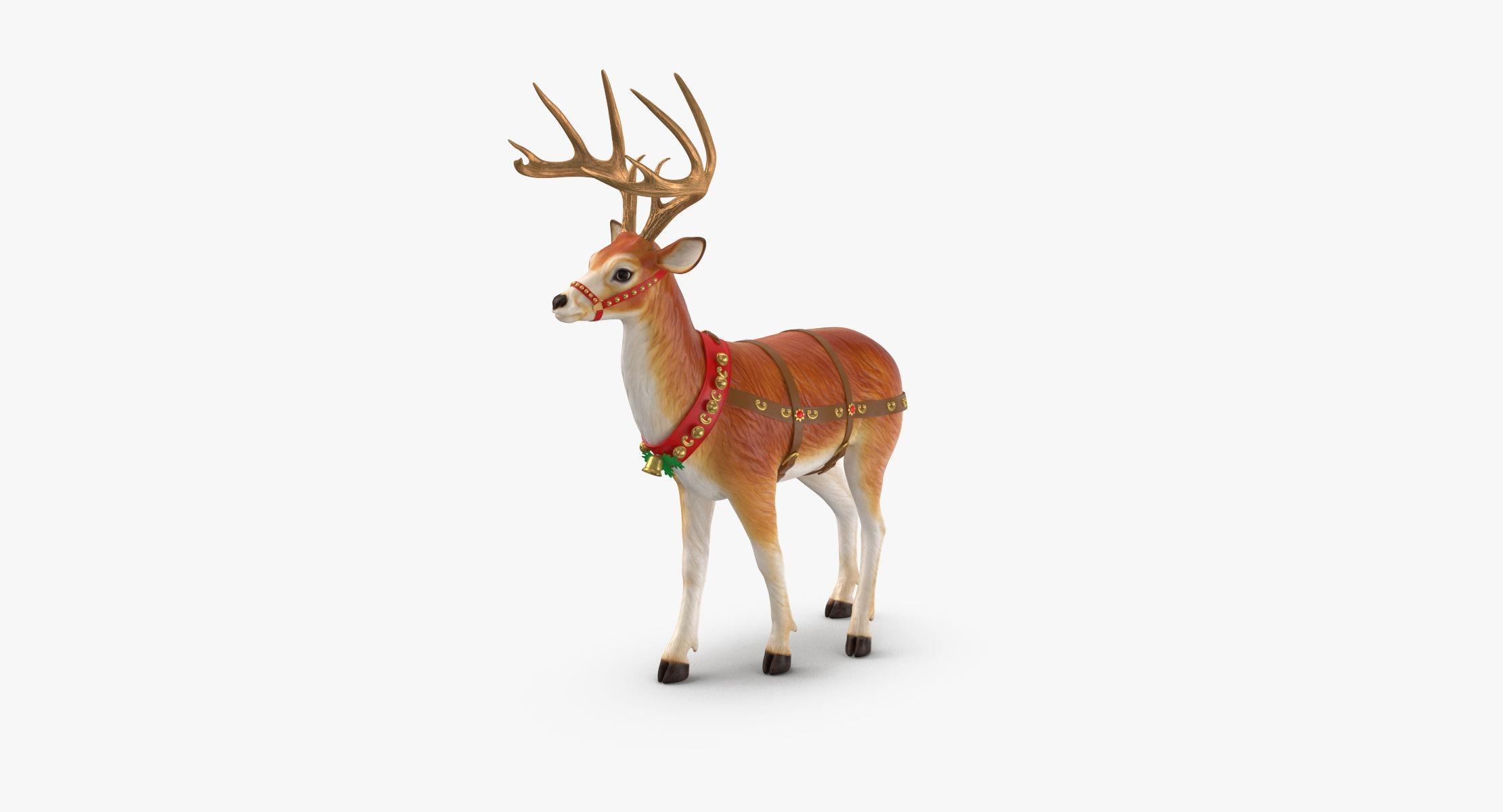 Reindeer 08 3D model - reel 1