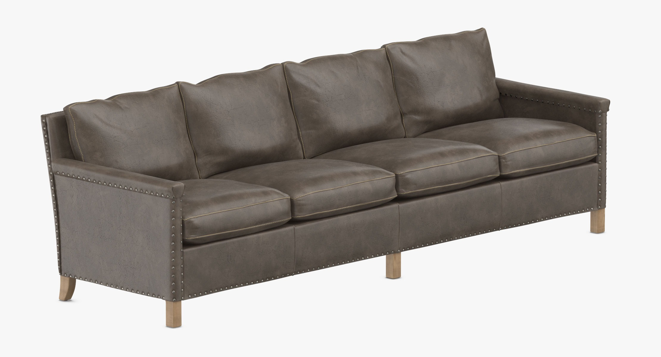 Contemporary 4 Seater Sofa 3D - reel 1