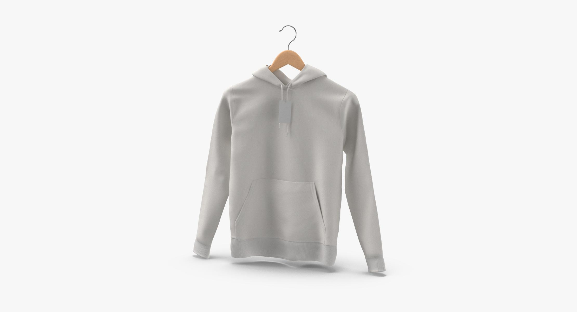 Male Standard Hoodie Hanging on Hanger With Tag - reel 1