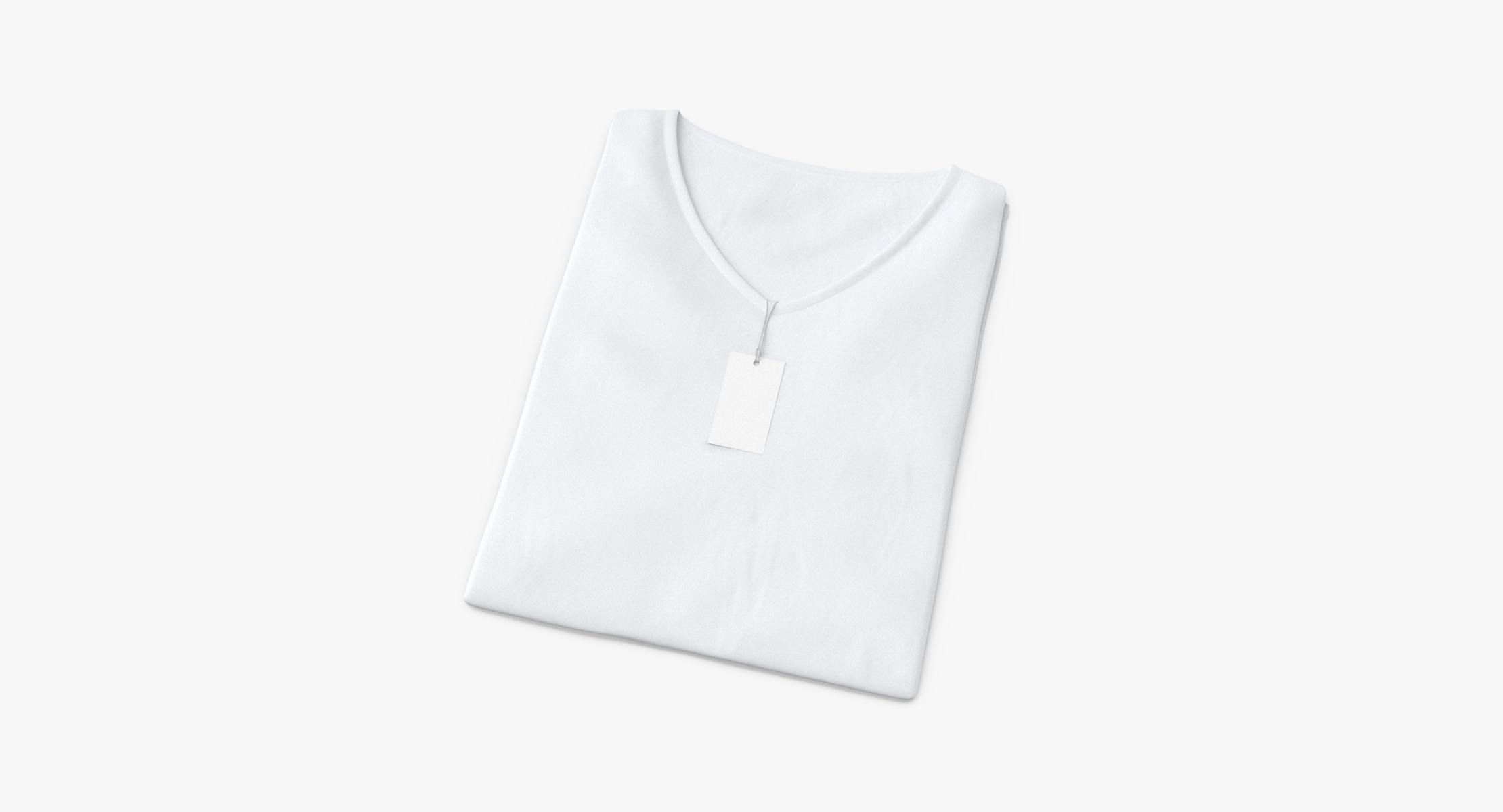 Female V-Neck Folded With Tag - reel 1