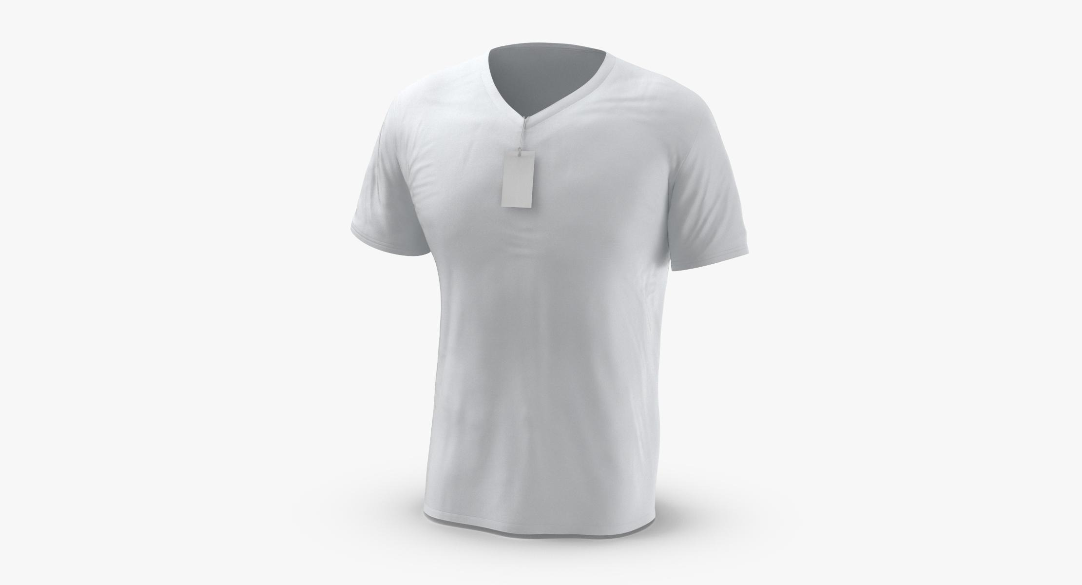 Male V-Neck Worn With Tag - reel 1