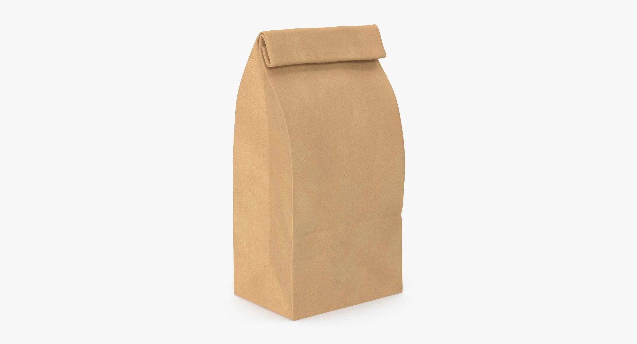 Grocery Bag No Handle Mockup Small Closed - reel 1