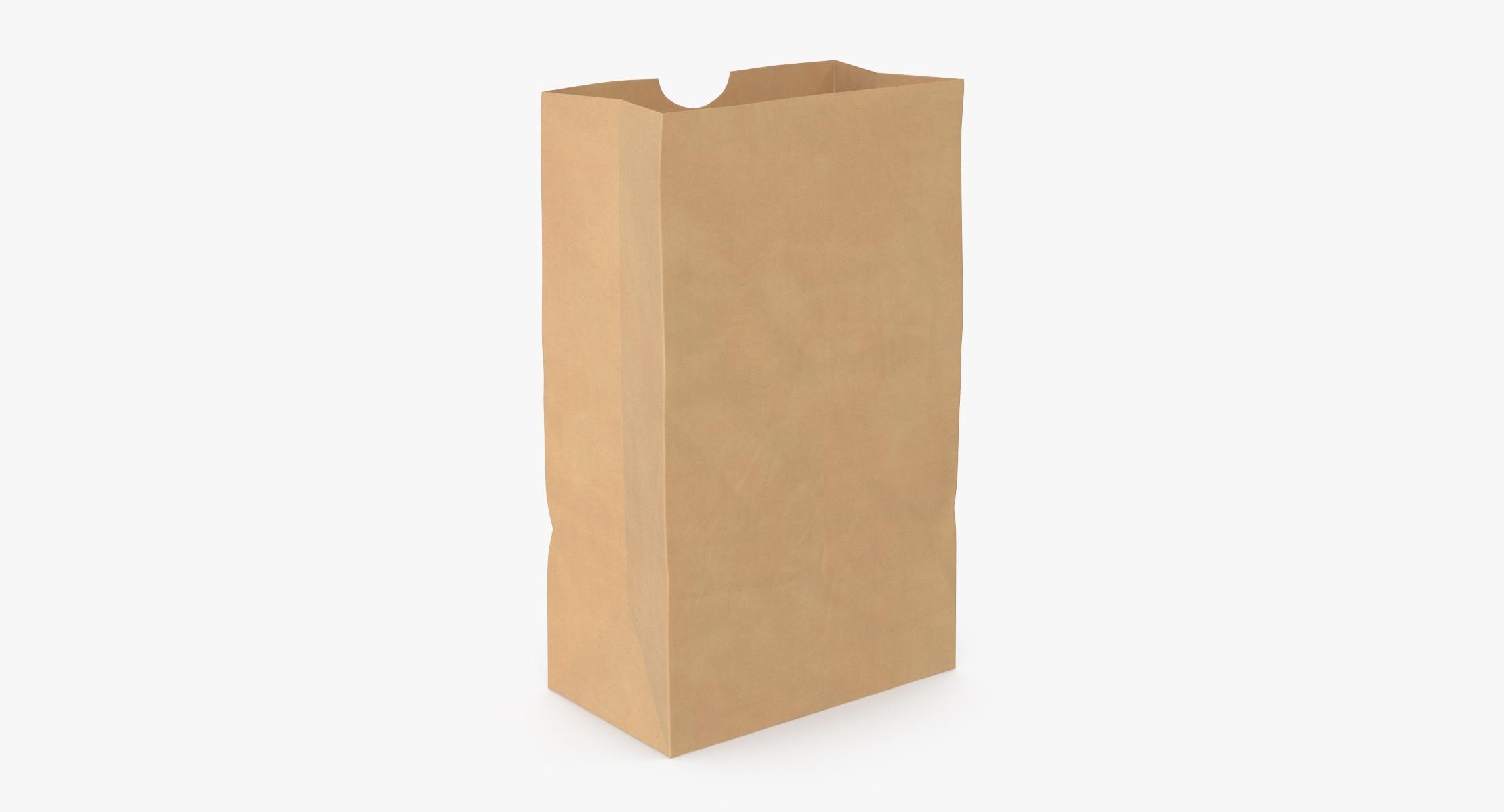 Grocery Bag No Handle Mockup Medium Open - reel 1