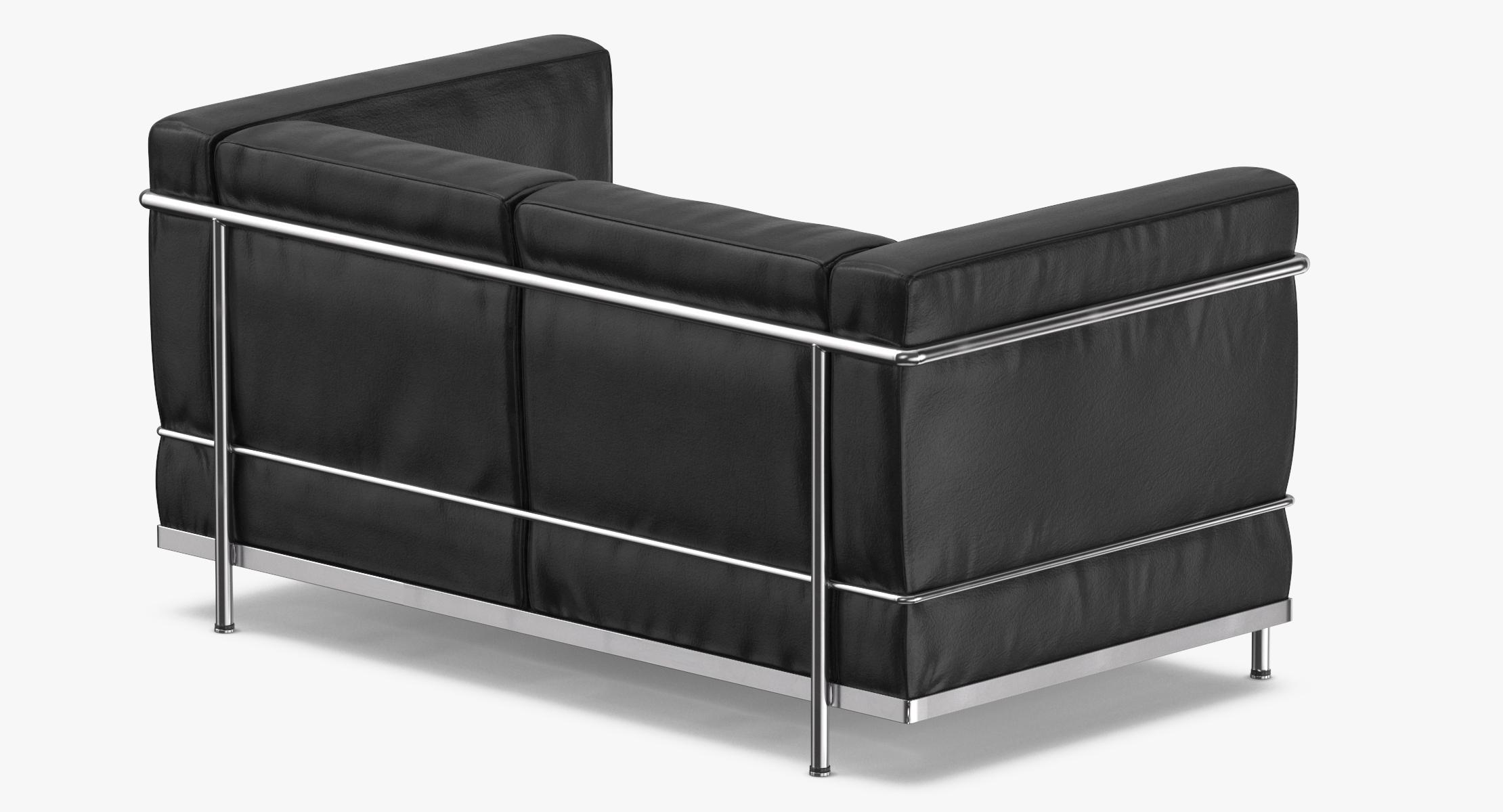 3D Mid-Century Modern 2-seater Sofa