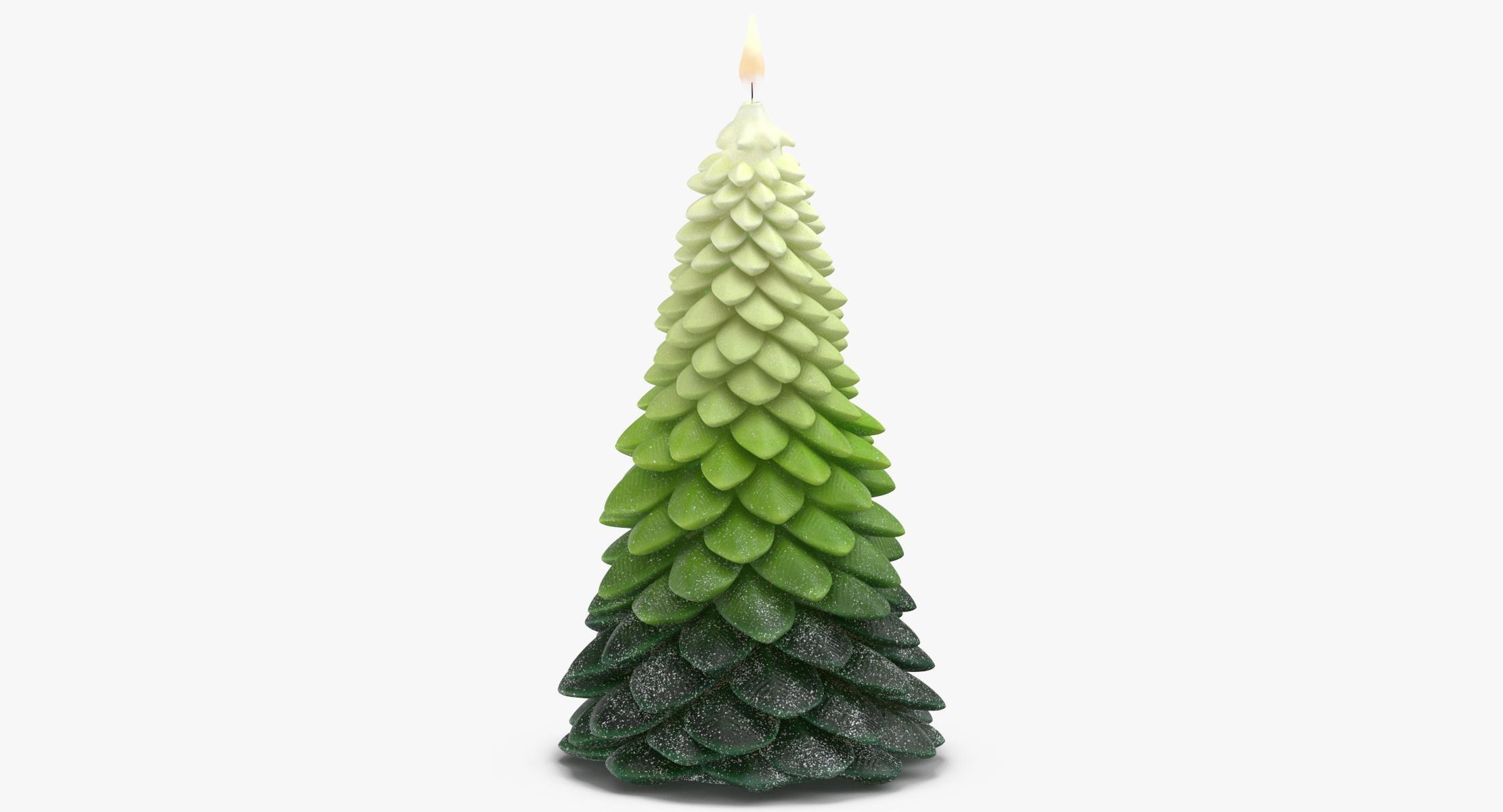 Tree Shaped Candle 02 Big Lit - reel 1