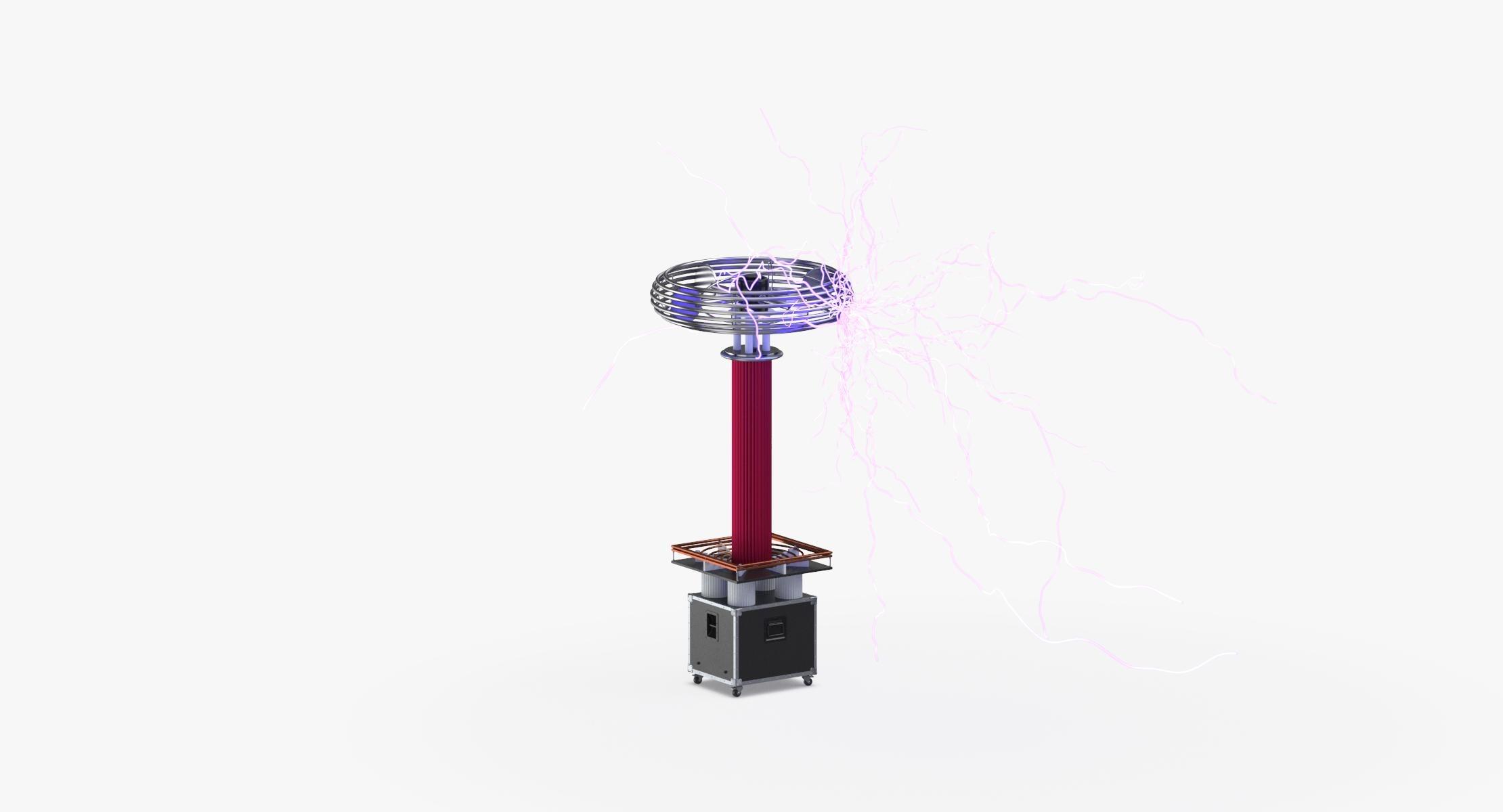 Tesla Coil 01 Lit 3D - reel 1
