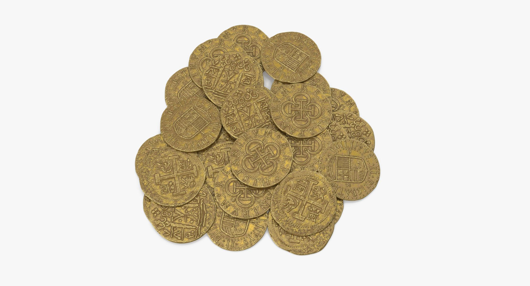 Gold Coins Pile - reel 1