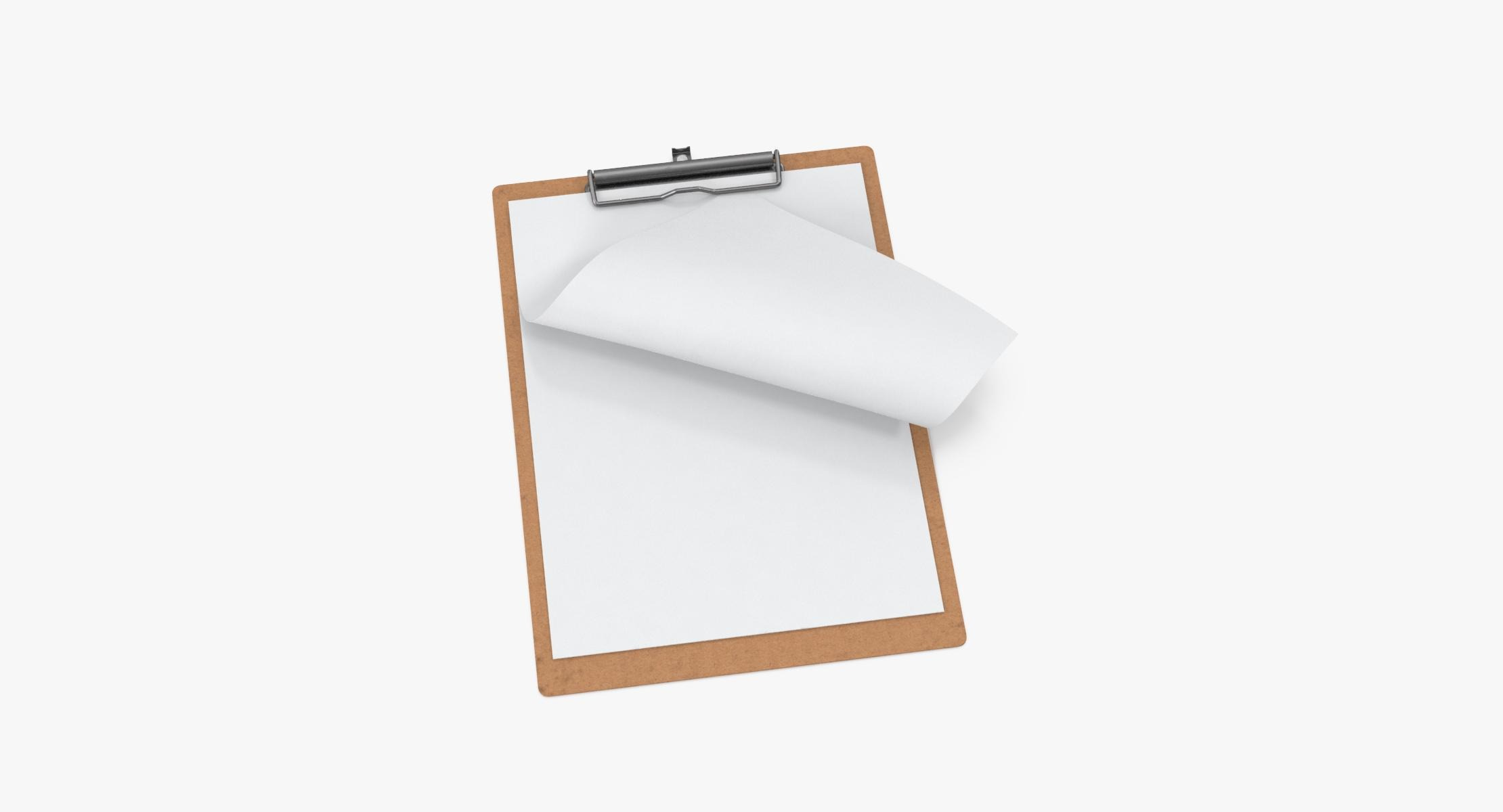 Paper Sheets in Clipboard 01 - reel 1