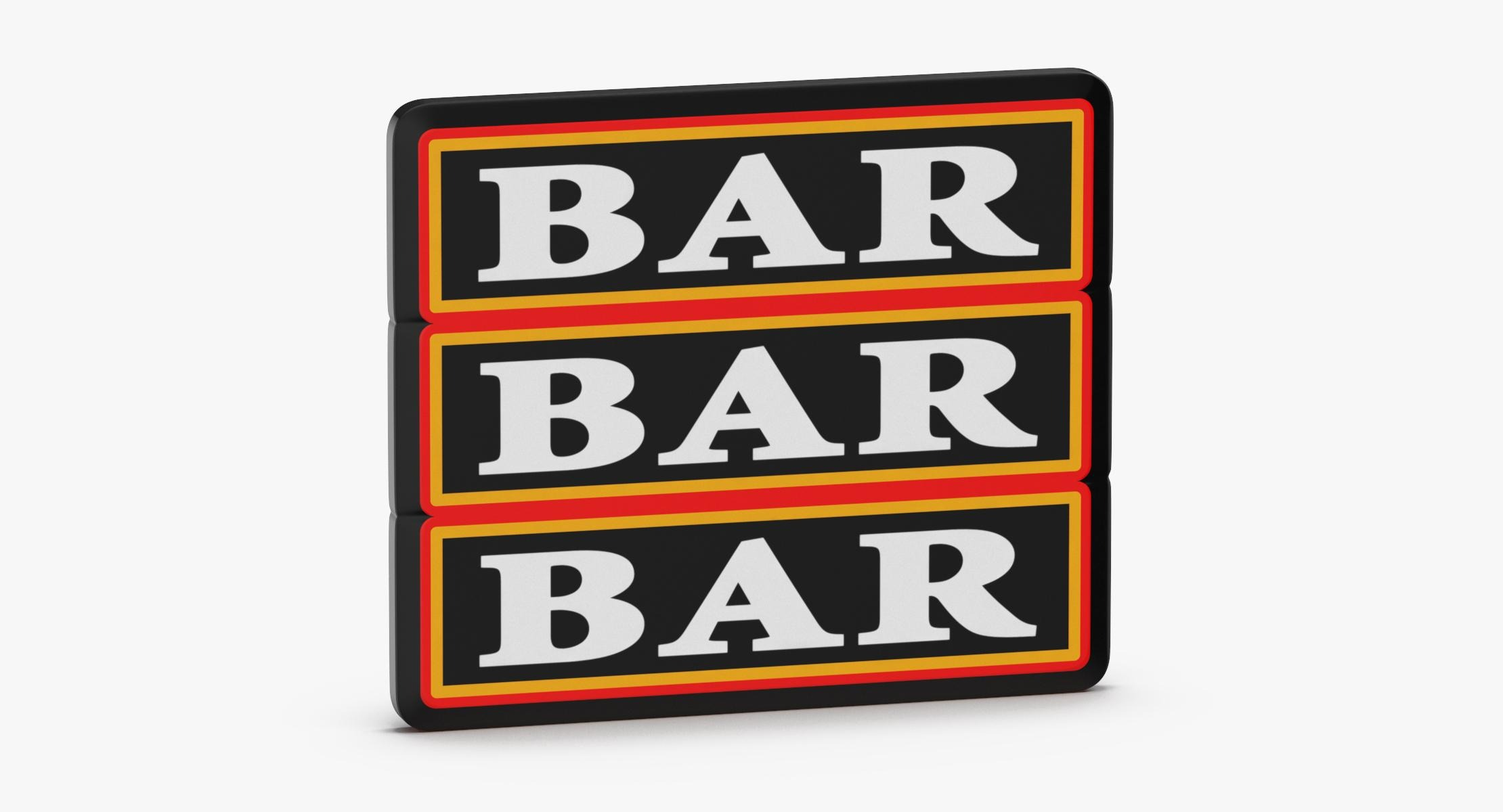 Video Slot Machine Bars - reel 1