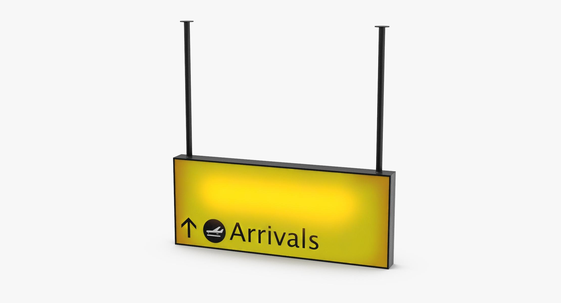 Airport Arrival Sign - reel 1