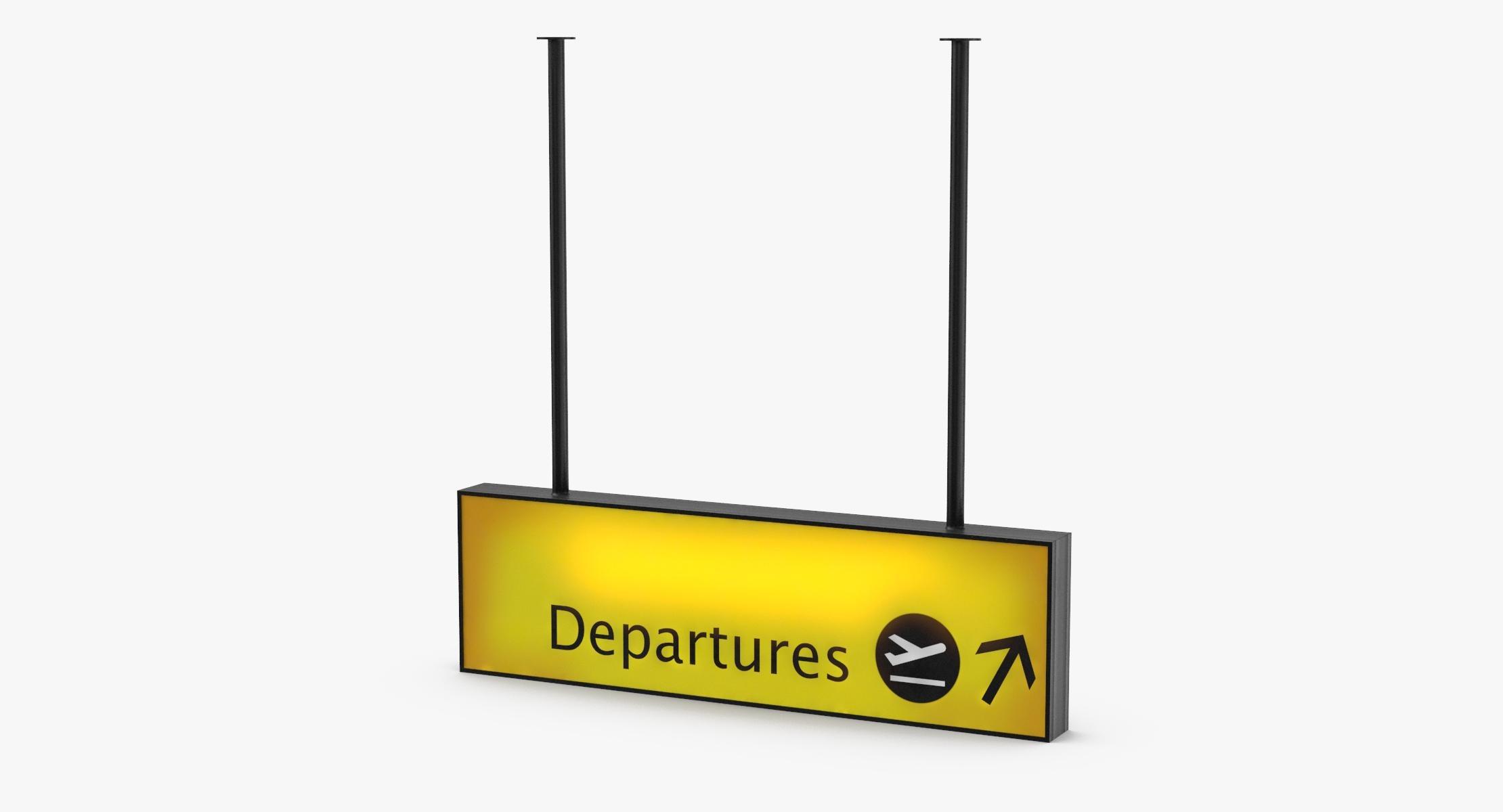 Airport Departure Sign 01 - reel 1