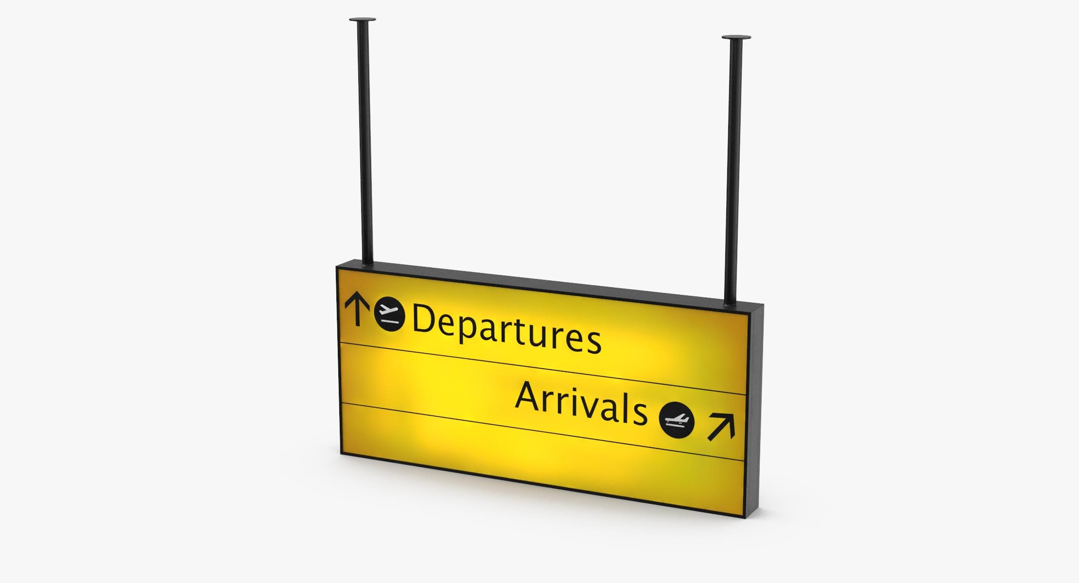 Airport Departure Sign - reel 1