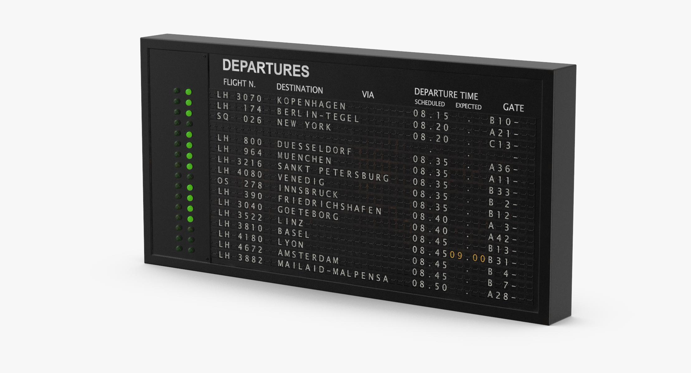 Old Flight Information Board 01 - reel 1