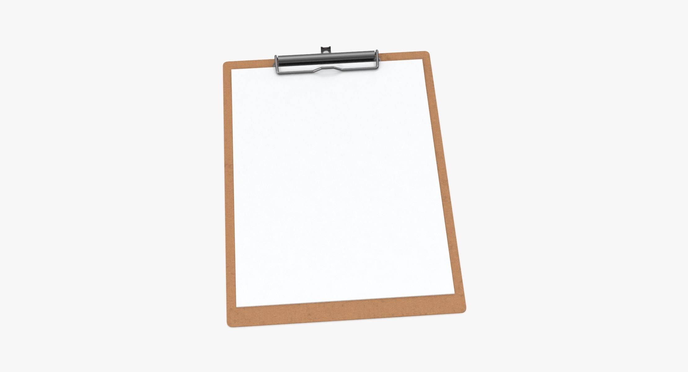 Paper Sheets in Clipboard 02 - reel 1