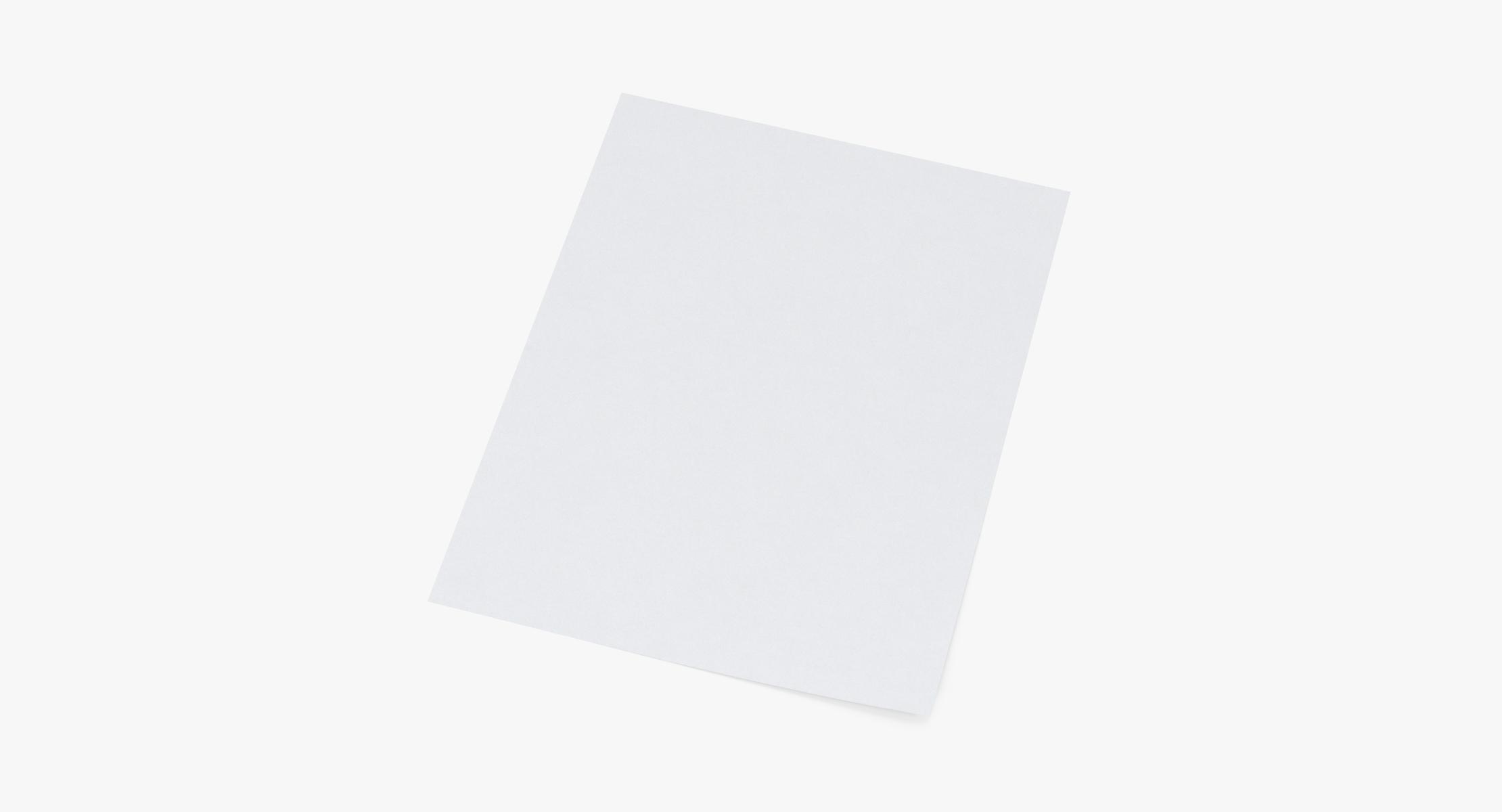 Single Paper Sheet 01 - reel 1