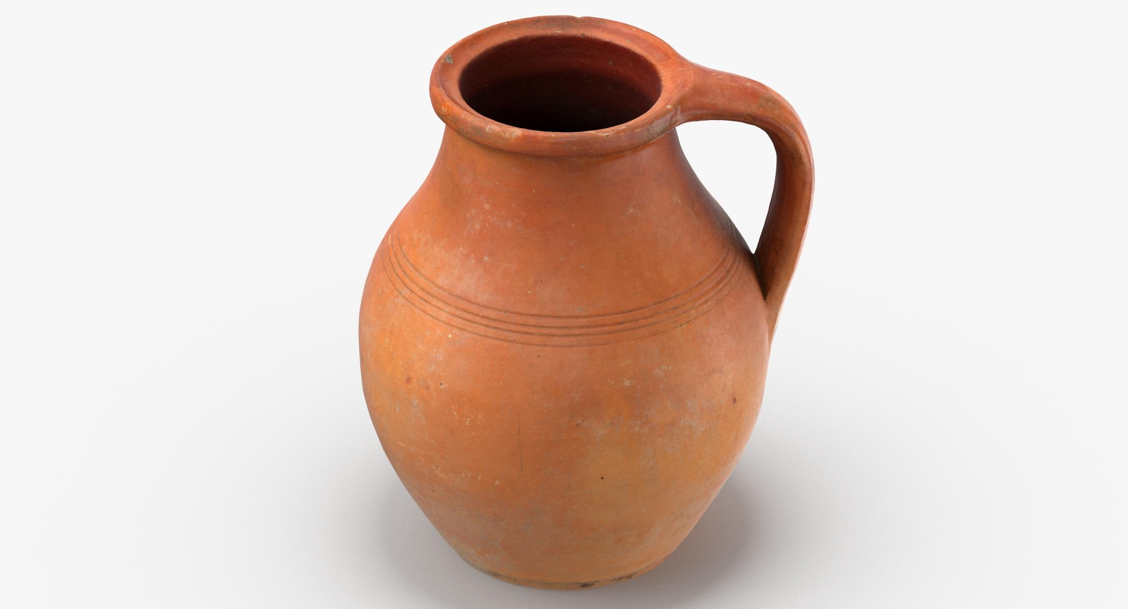 Clay Pot 05 3D model - reel 1