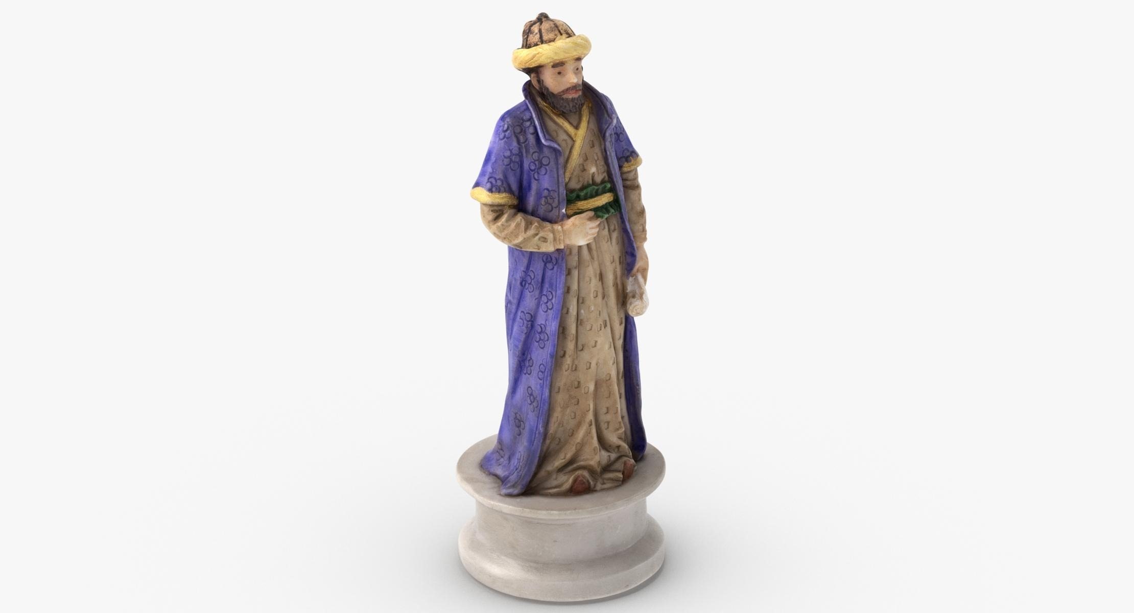 3D Chess Piece Bishop Black model - reel 1