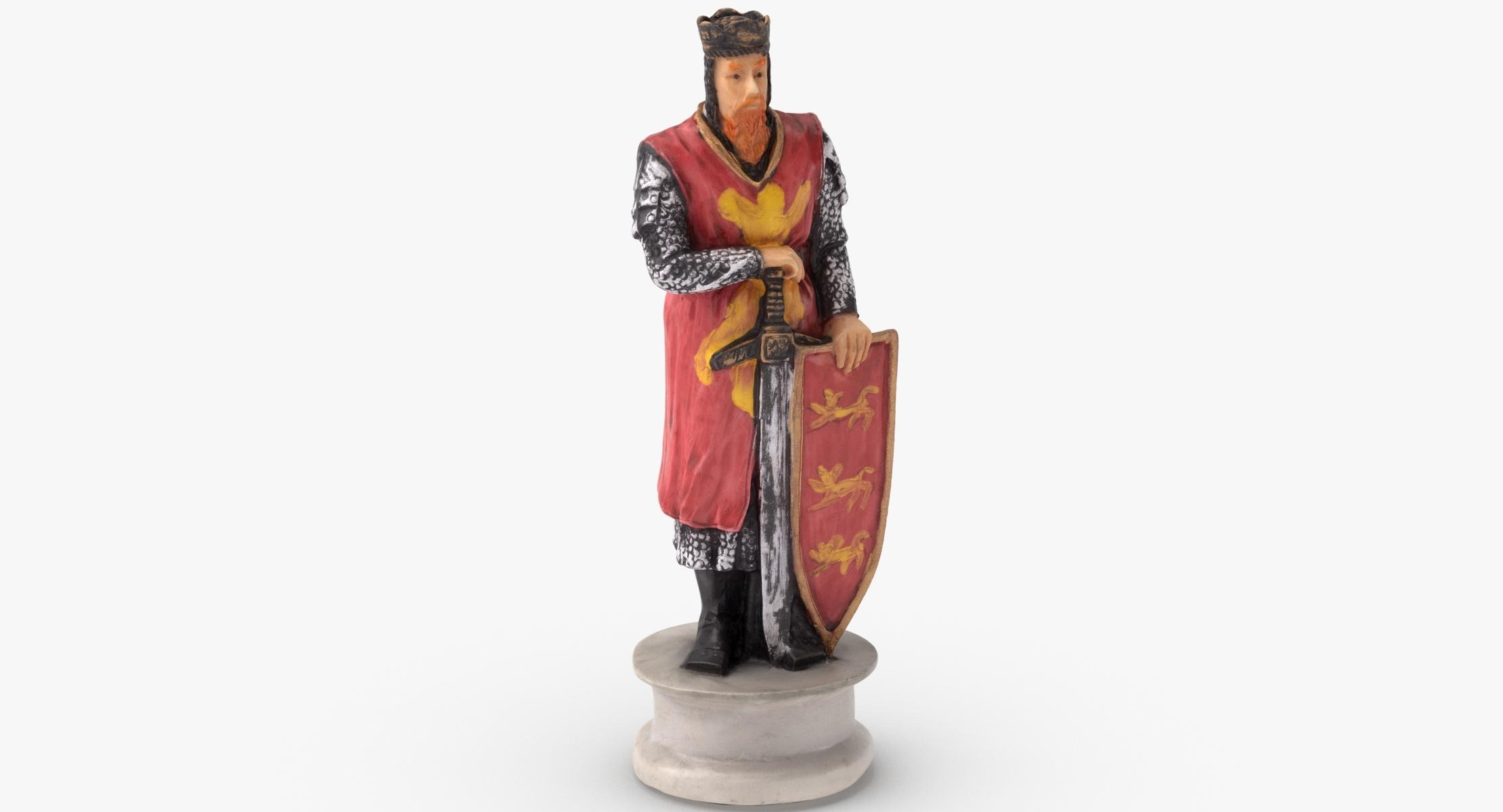 Chess Piece King White 3D - reel 1