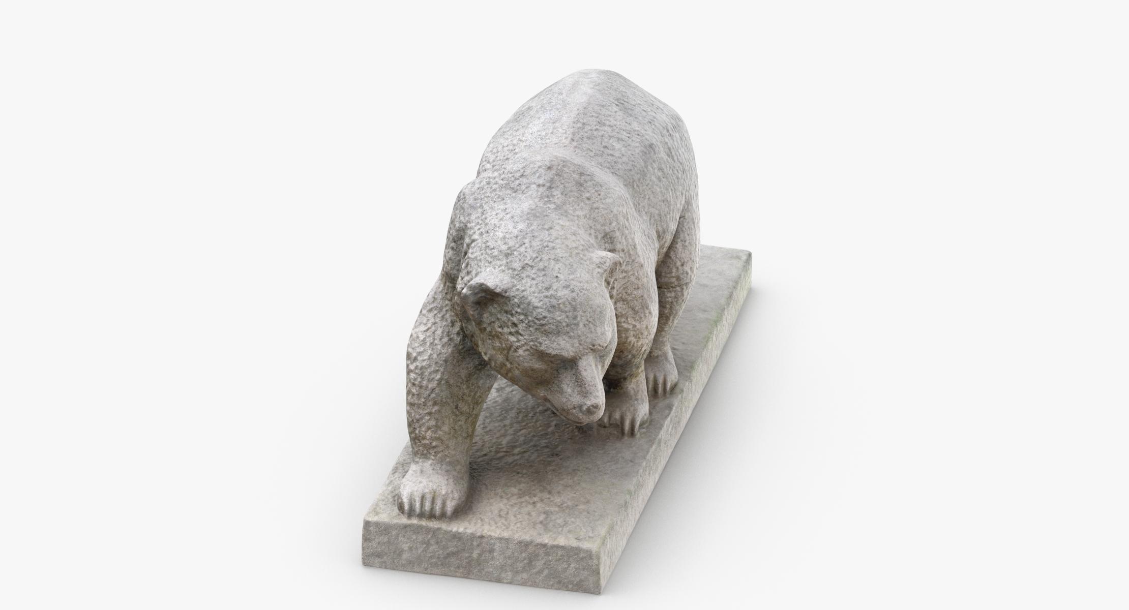3D model Stone Bear Statue 01 - reel 1