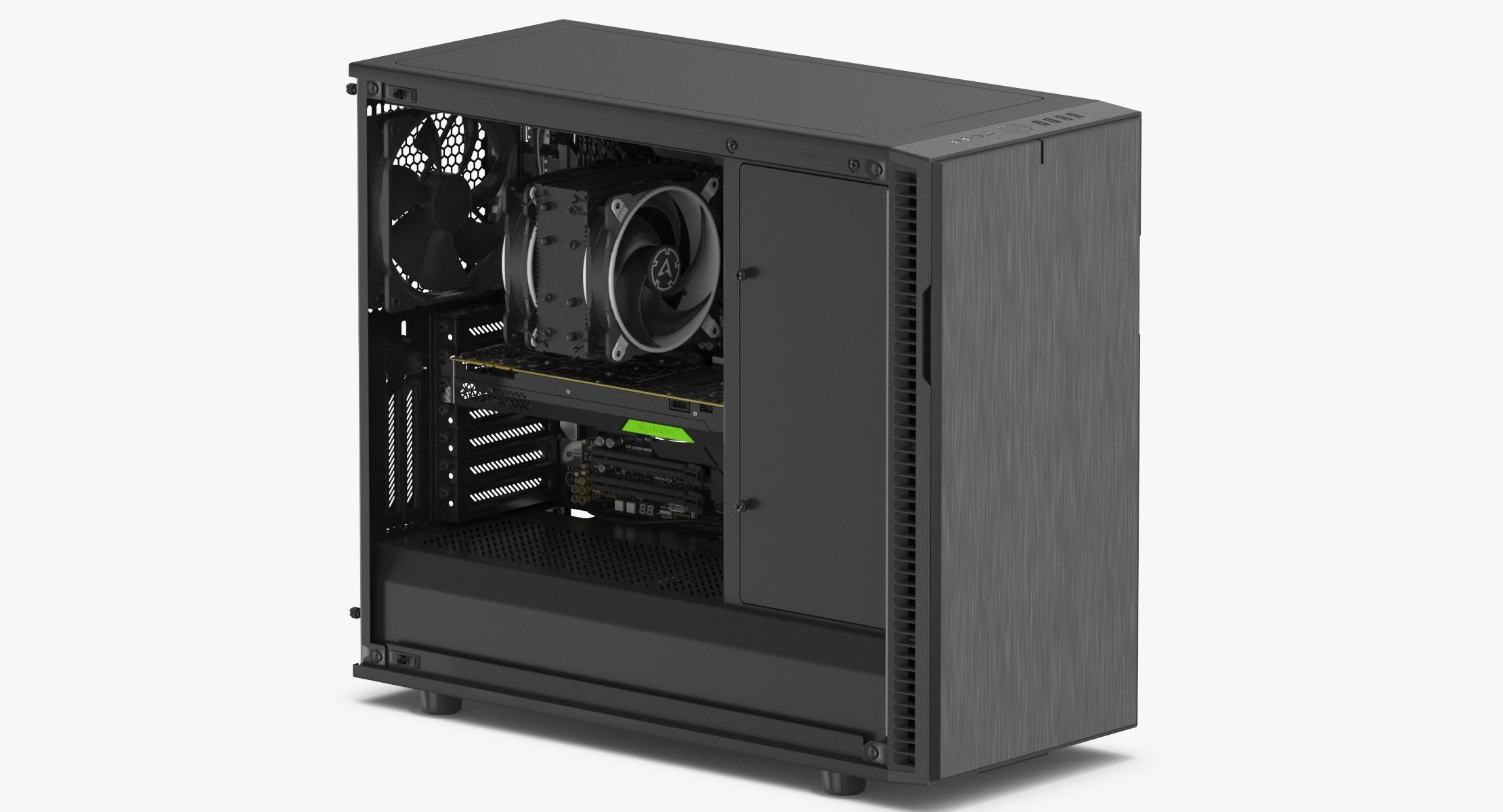 3D Full PC Case Open model - reel 1