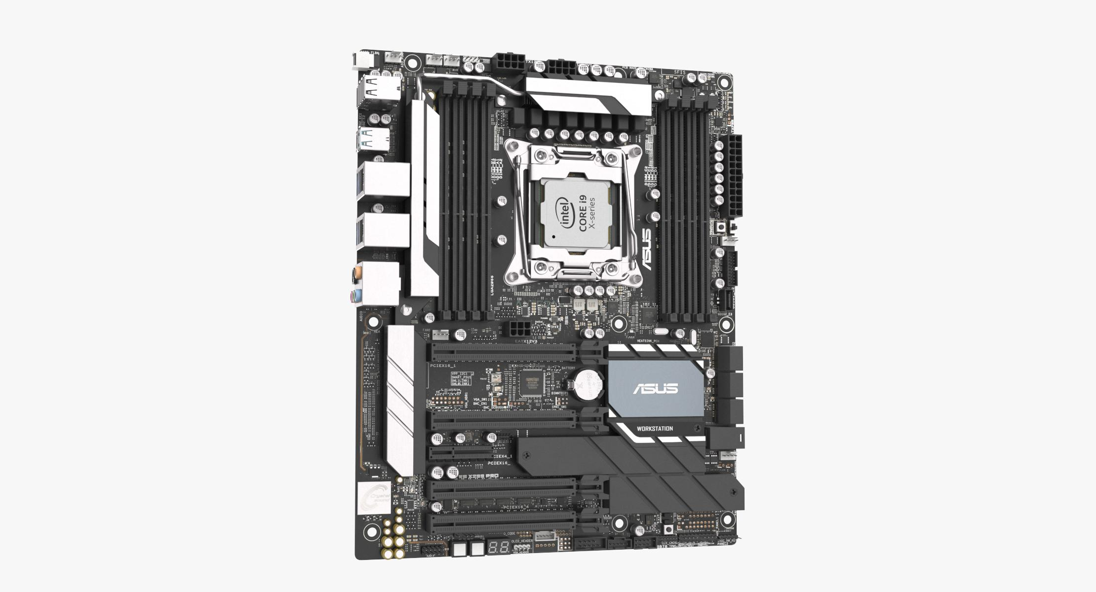 Gaming Motherboard with CPU 3D model - reel 1