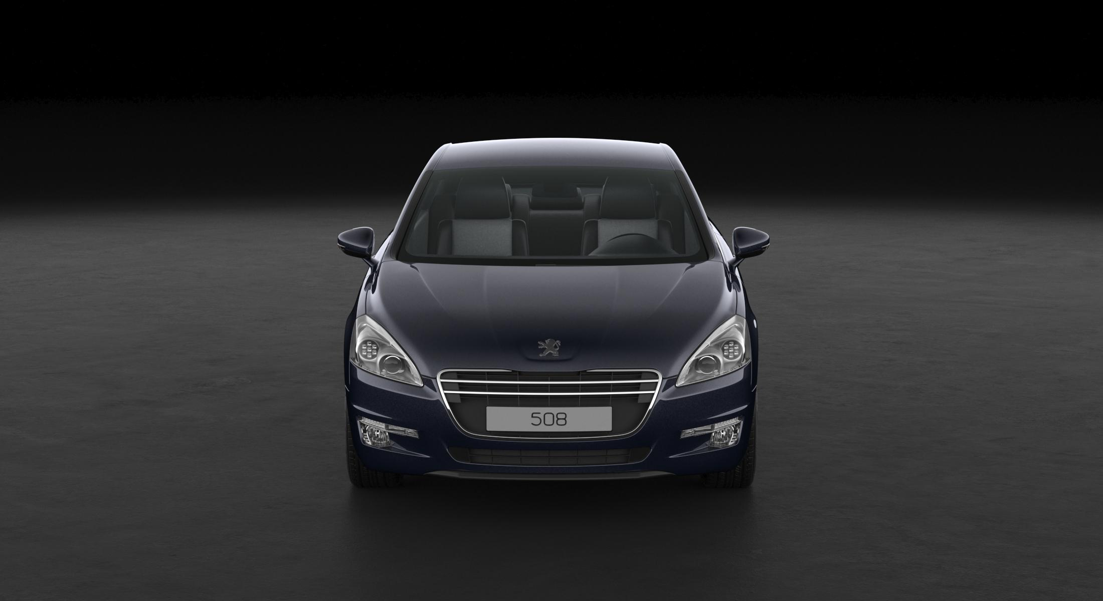 3D Peugeot 508 2013 Dark Blue model - reel 1