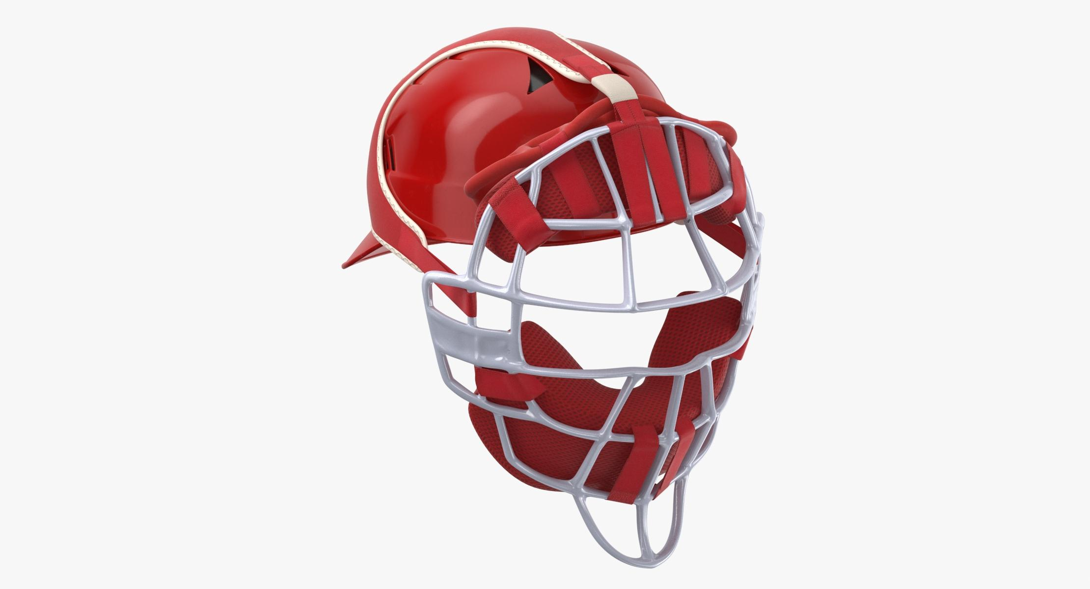 3D Baseball Catcher Mask model - reel 1
