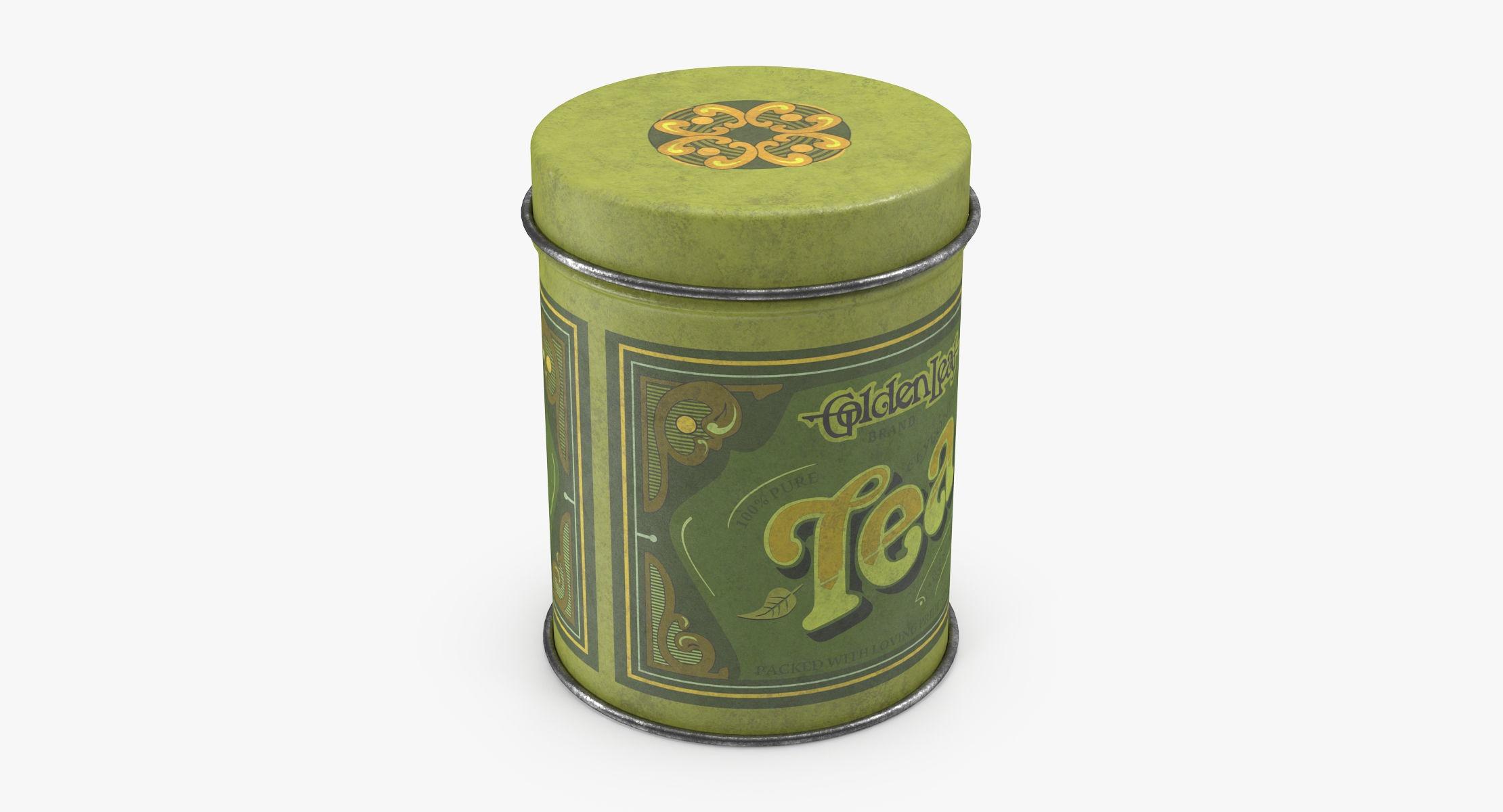Vintage Metal Kitchen Tin Tea - reel 1