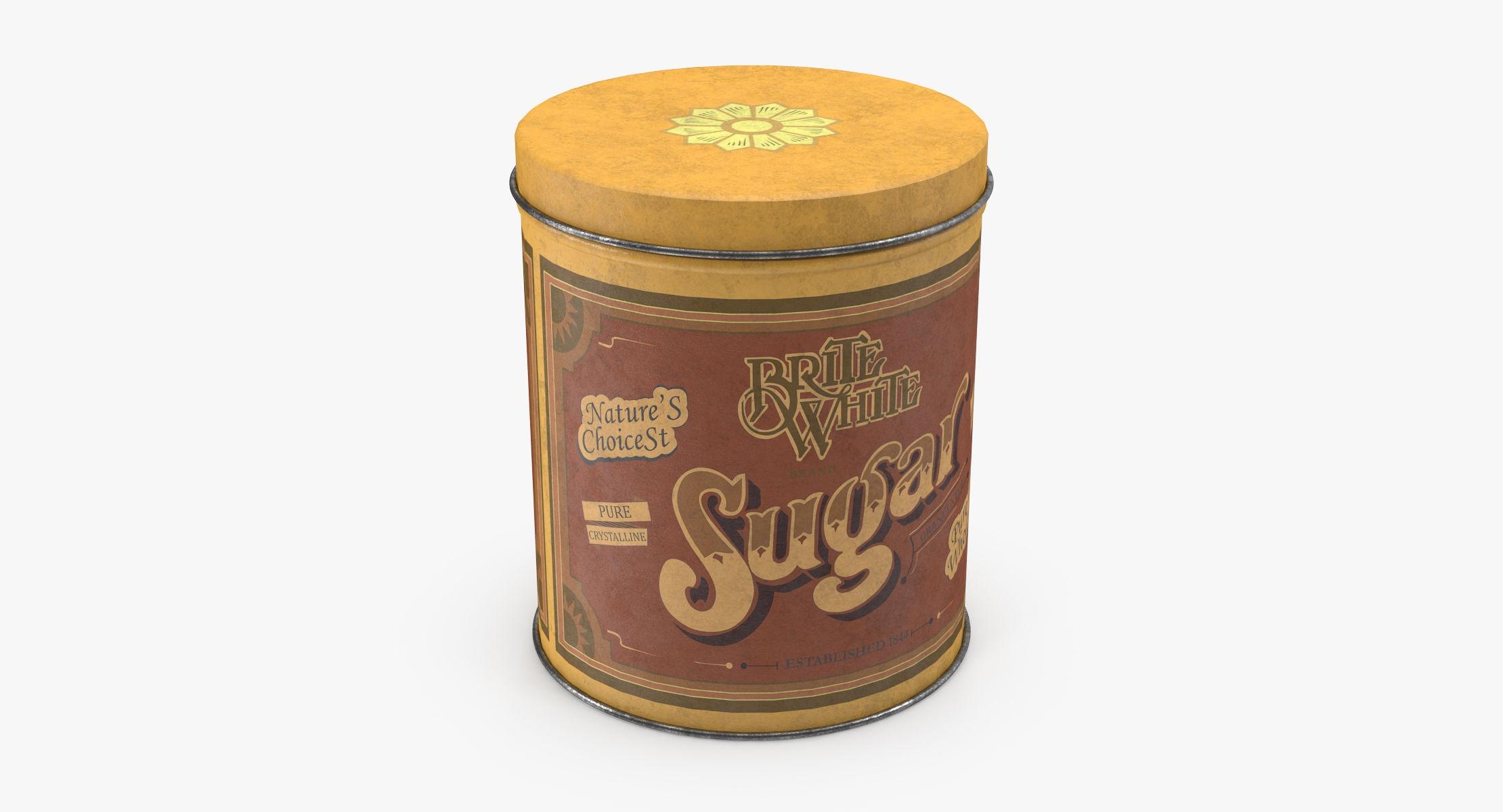 Vintage Metal Kitchen Tins Sugar - reel 1