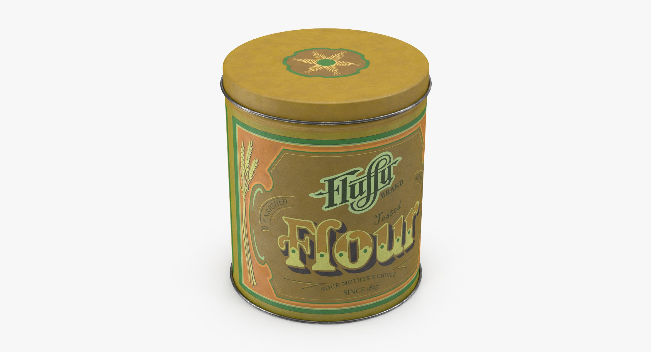 Vintage Metal Kitchen Tin - Flour - reel 1