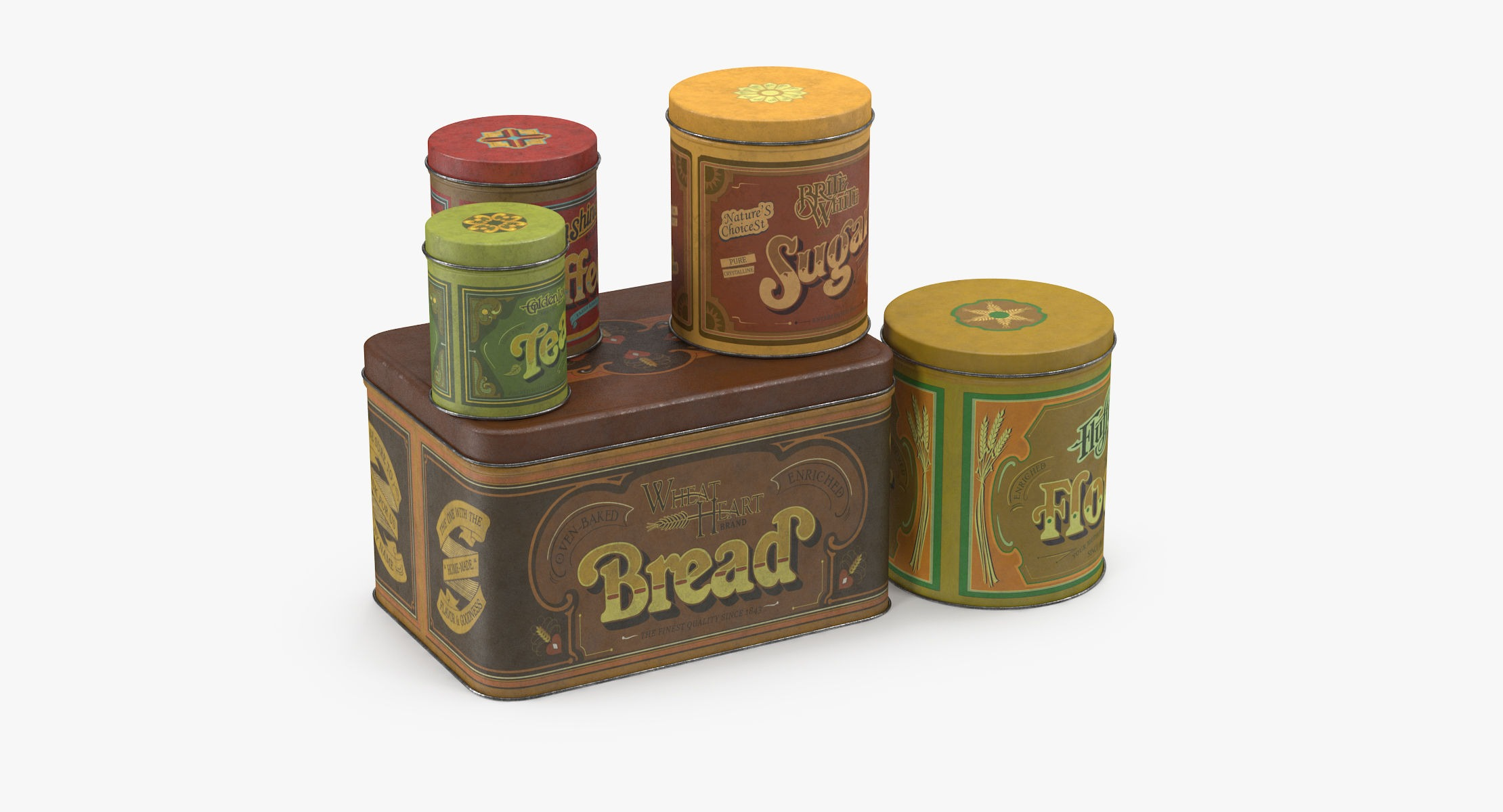 Vintage Metal Kitchen Tins - reel 1