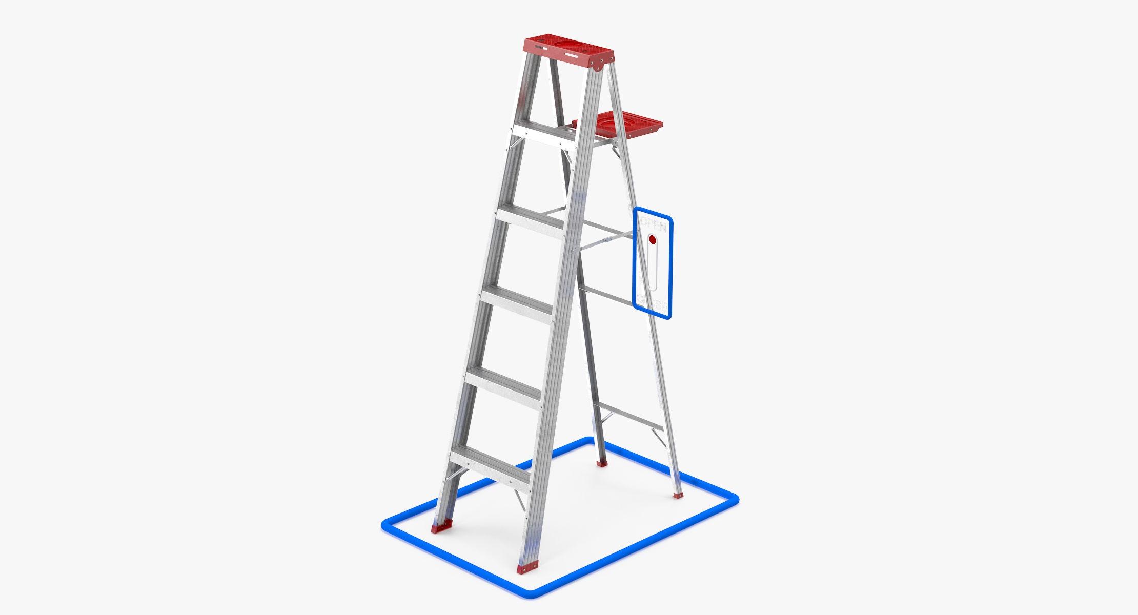 Aluminium Painting Ladder - reel 2
