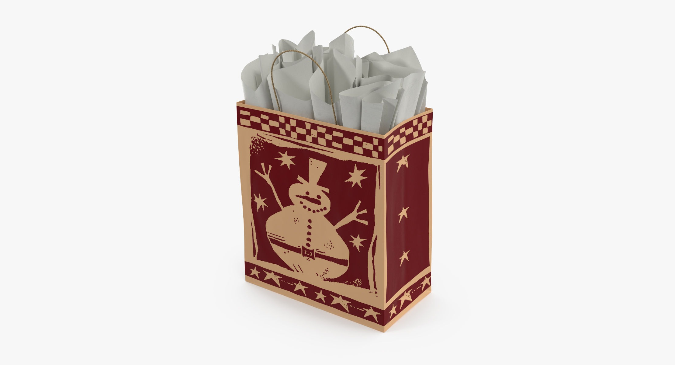 Christmas Bag with White paper - reel 1