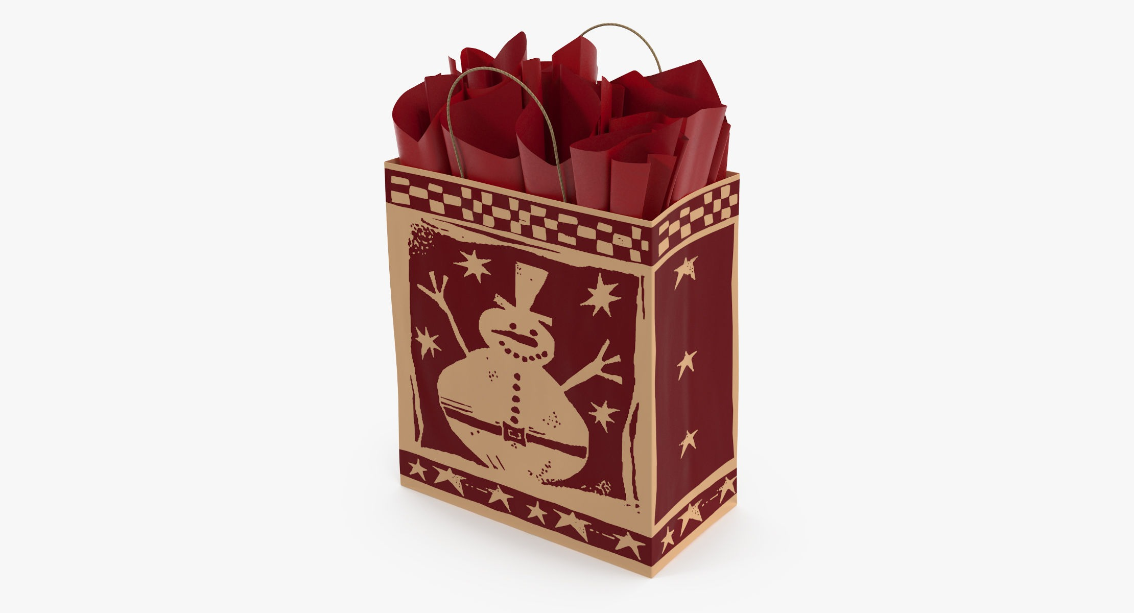 Christmas Bag with Red Paper - reel 1
