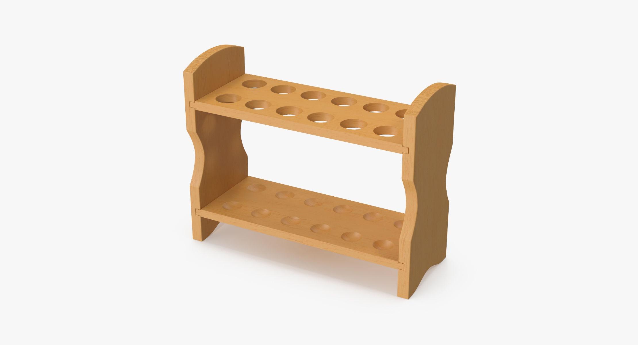 Wooden Test Tube Rack - reel 1