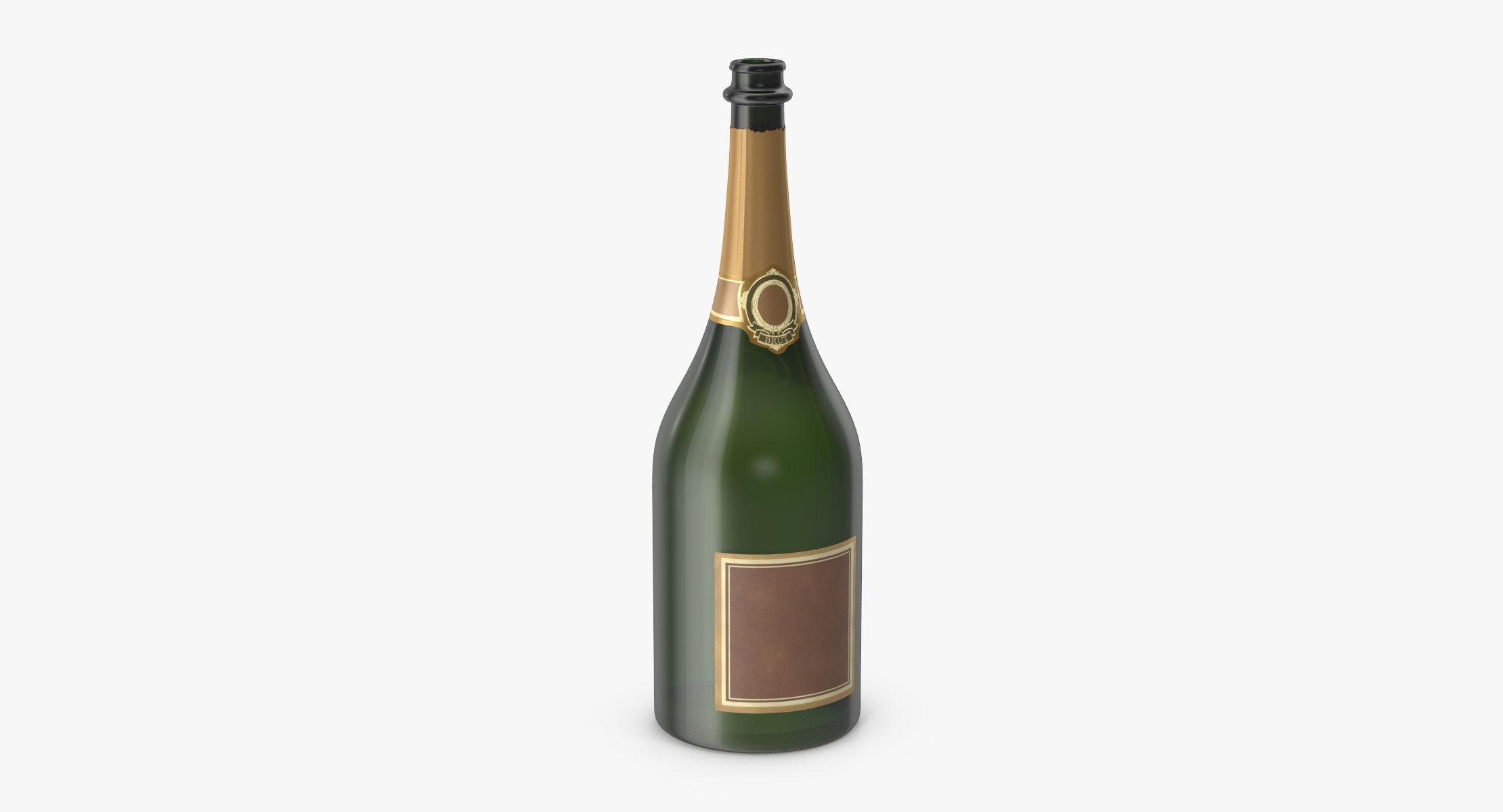 Champagne Bottle 02 Opened - reel 1