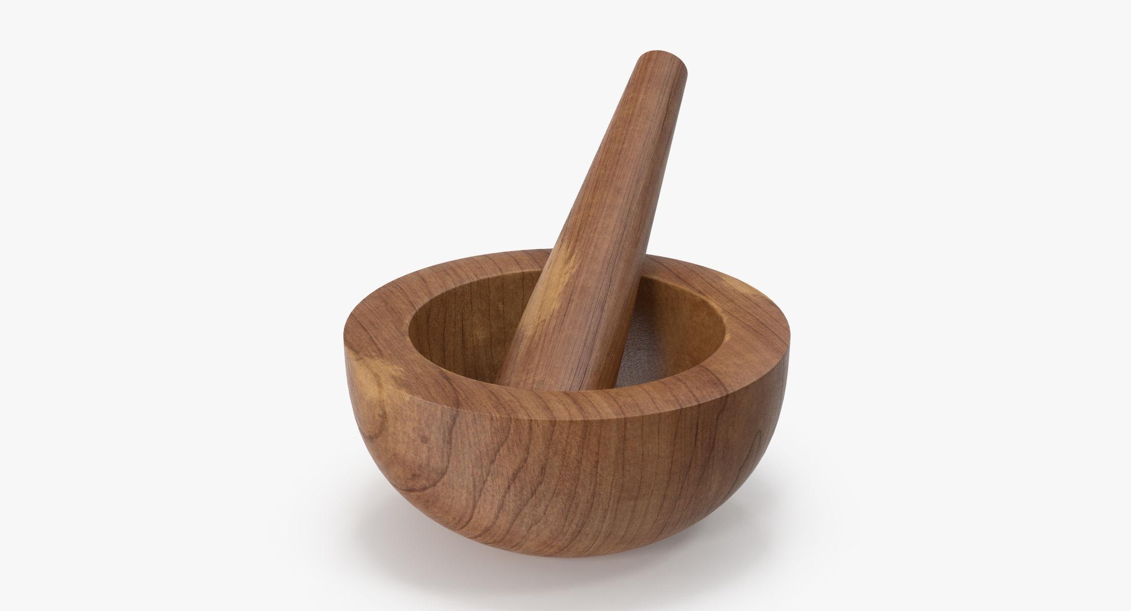 Wood Mortar and Pestle - reel 1