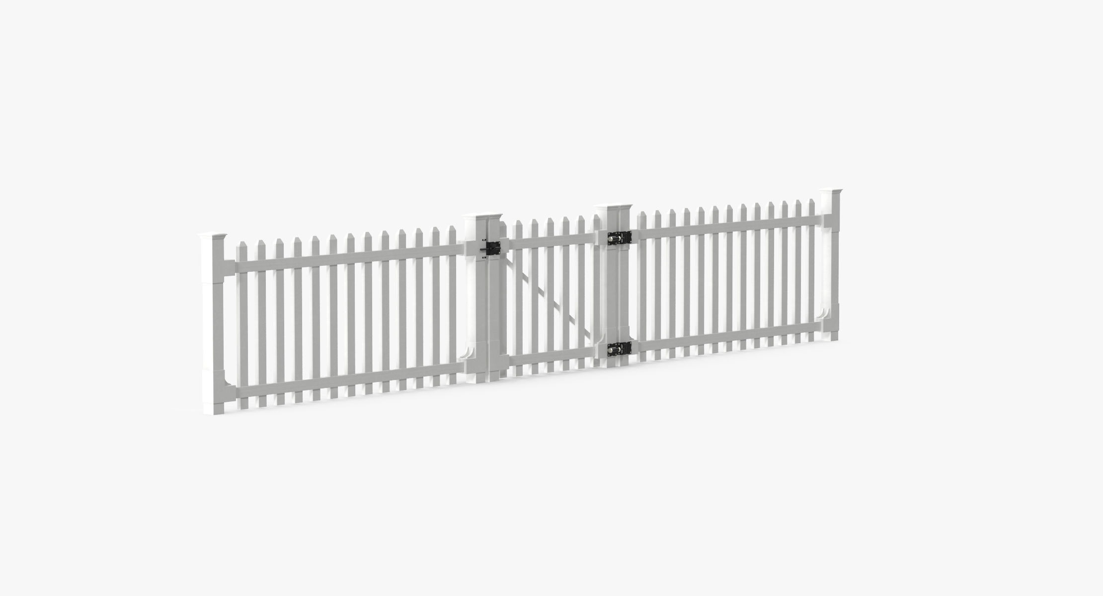 White Picket Fence Section and Gate - reel 1